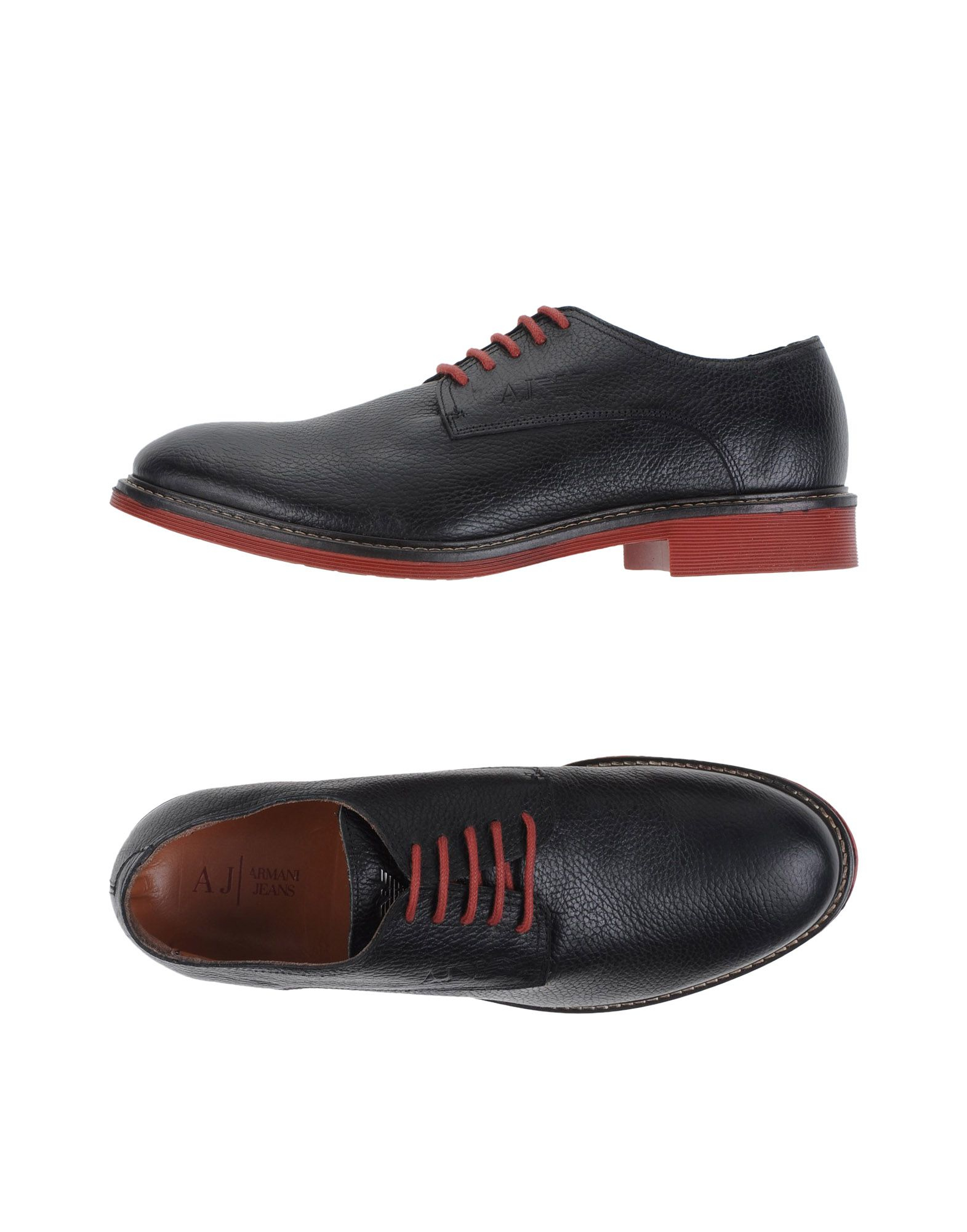 armani lace up shoes in black for lyst