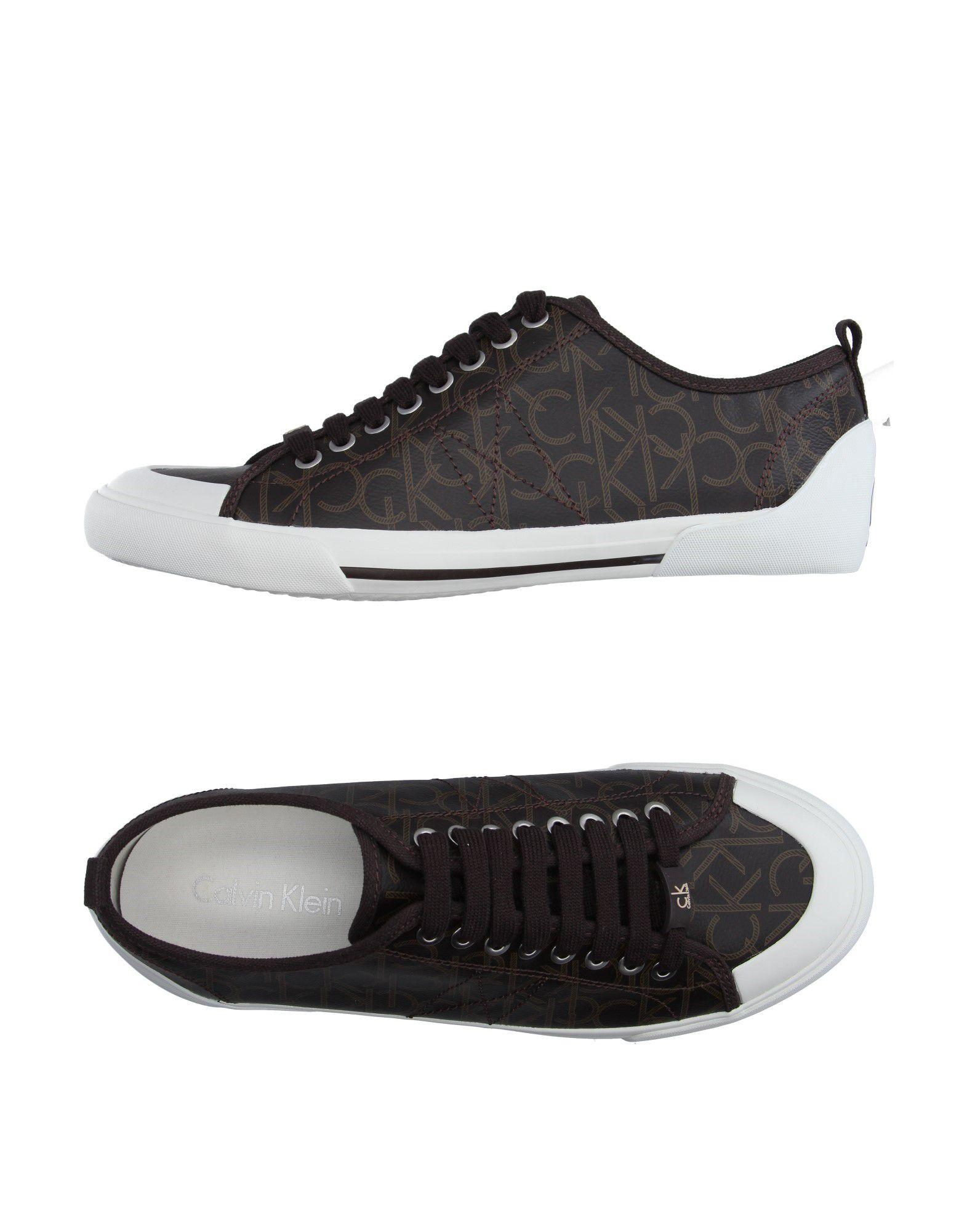 calvin klein jeans low tops trainers in brown for men lyst. Black Bedroom Furniture Sets. Home Design Ideas