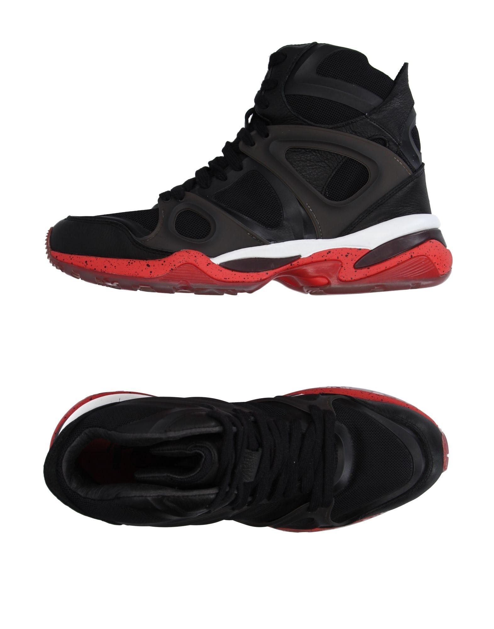 alexander mcqueen x puma hightops amp sneakers in black for