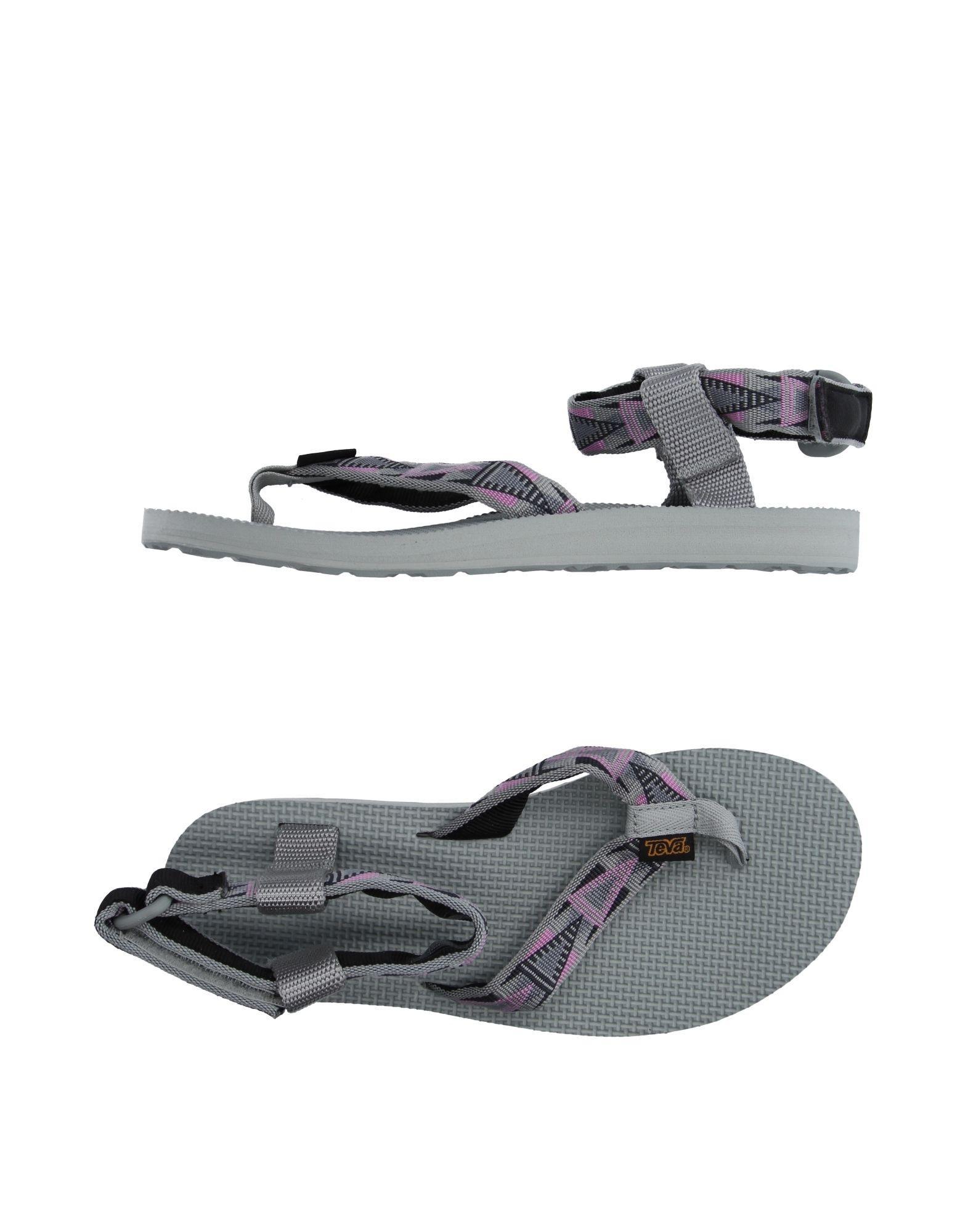 Lyst Teva Toe Strap Sandal In Gray
