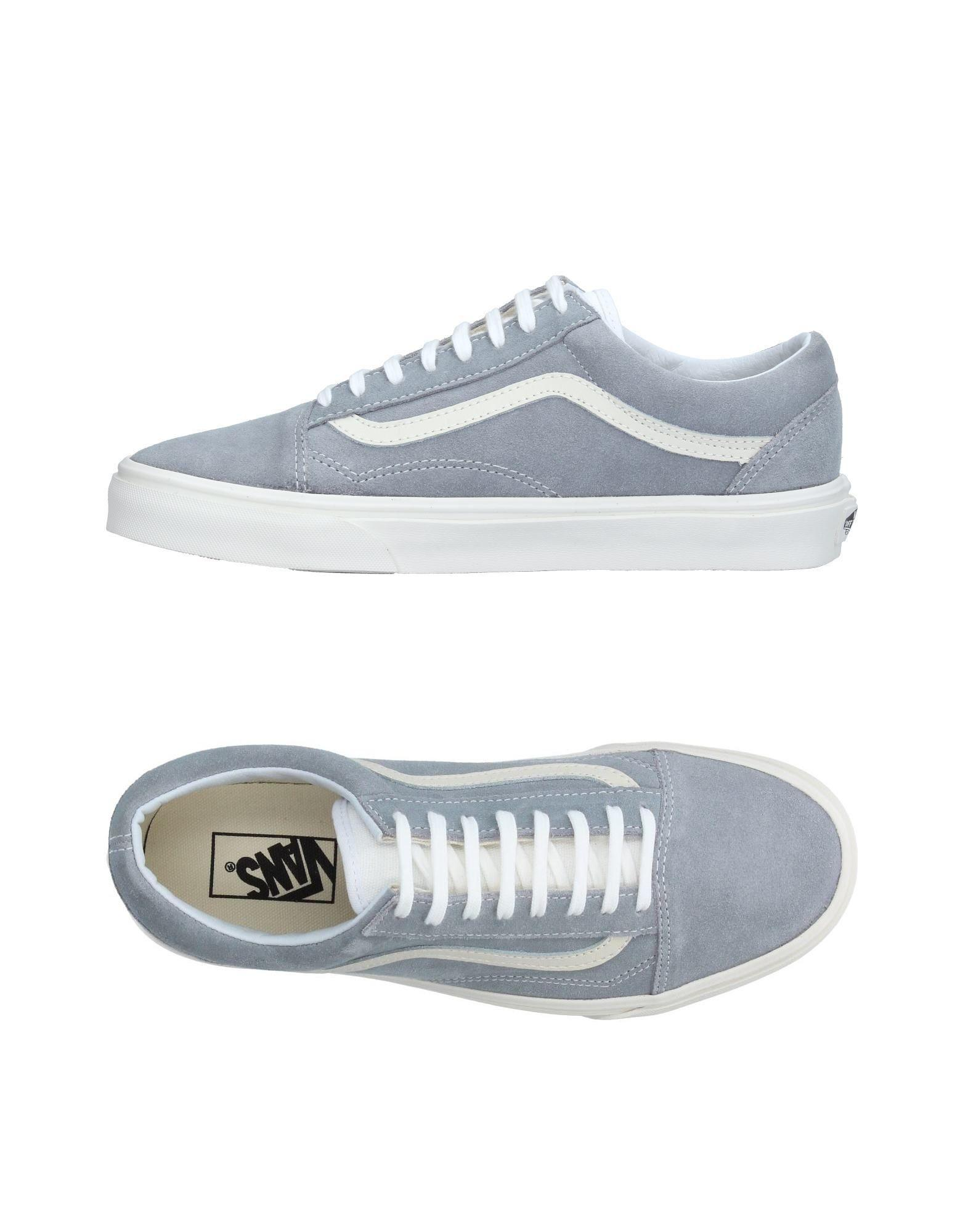 vans low tops sneakers in gray for men lyst. Black Bedroom Furniture Sets. Home Design Ideas