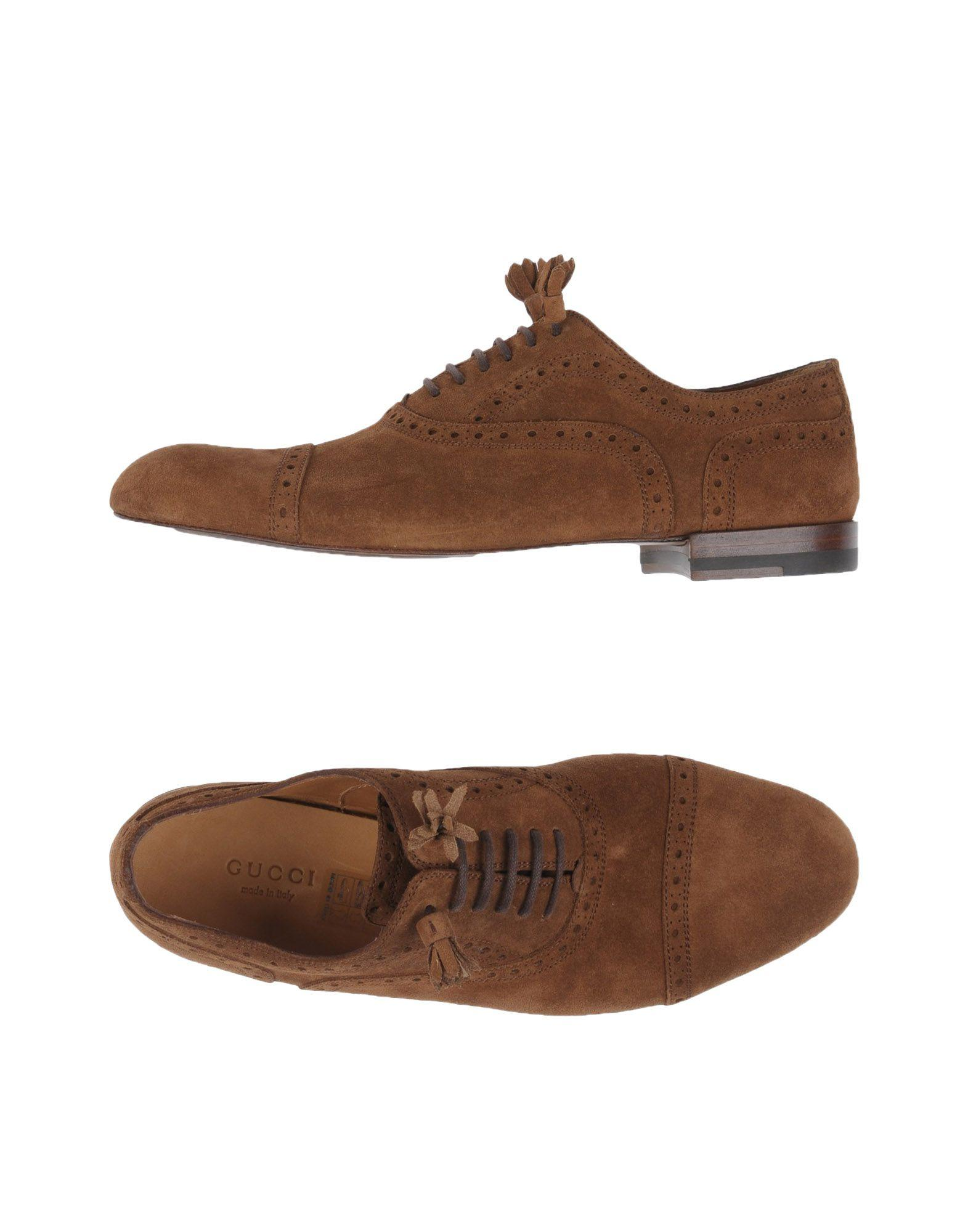 1a830ead13a Lyst - Gucci Lace-up Shoe in Brown for Men