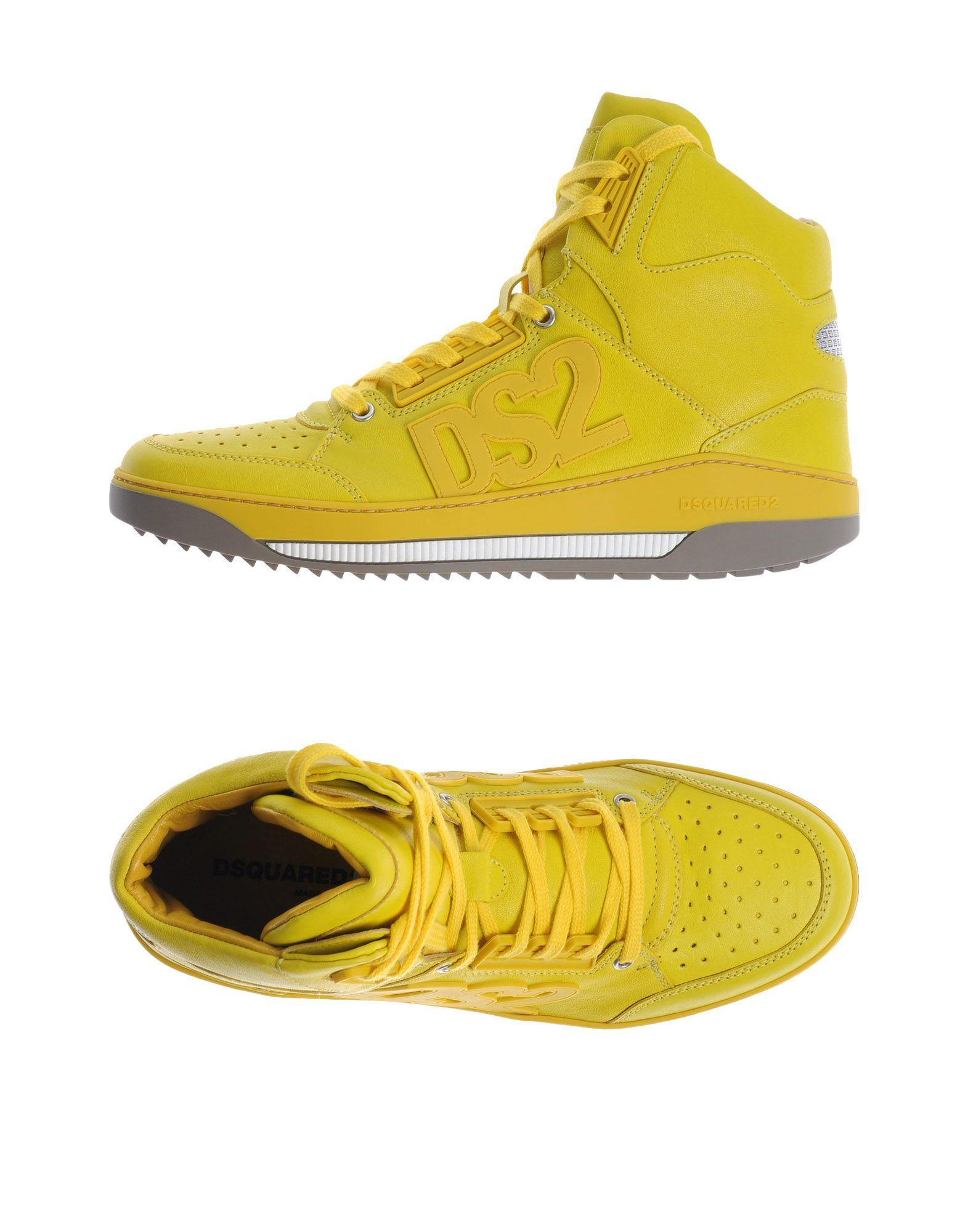 Dsquared 178 High Tops Amp Sneakers In Yellow For Men Lyst