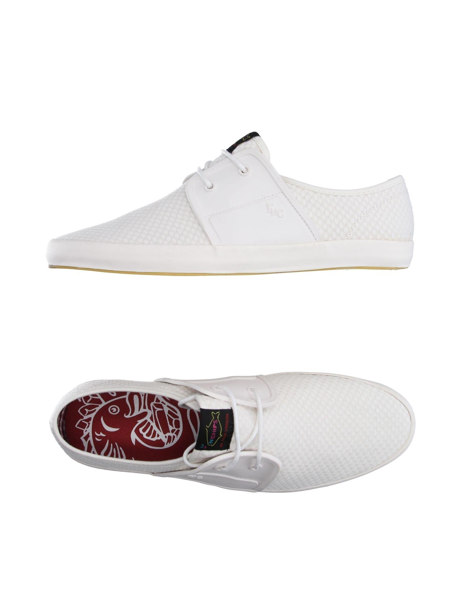 Fish n chips low tops sneakers in white for men lyst for White fishing boots