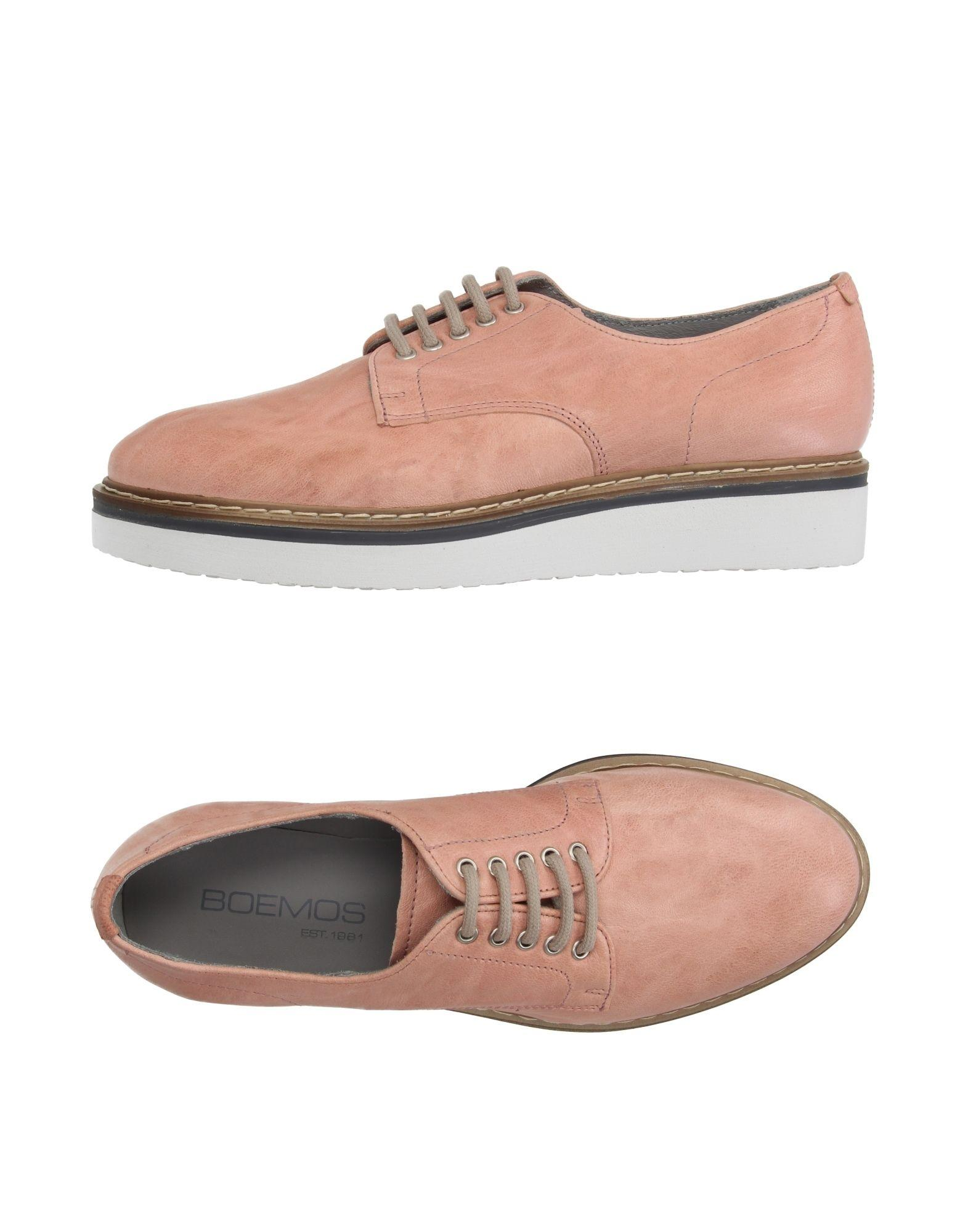 boemos lace up shoe in pink for lyst