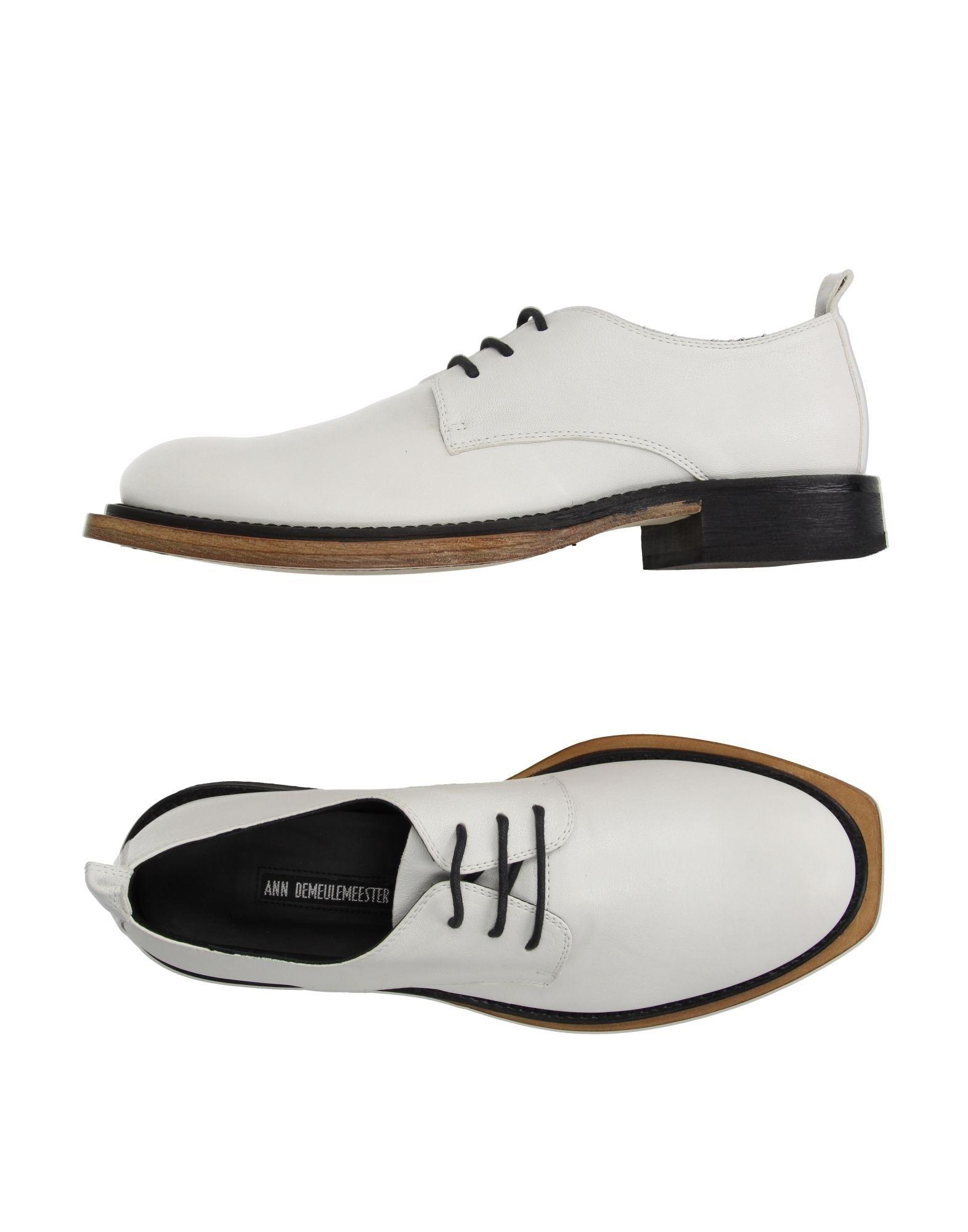 demeulemeester lace up shoe in white for lyst