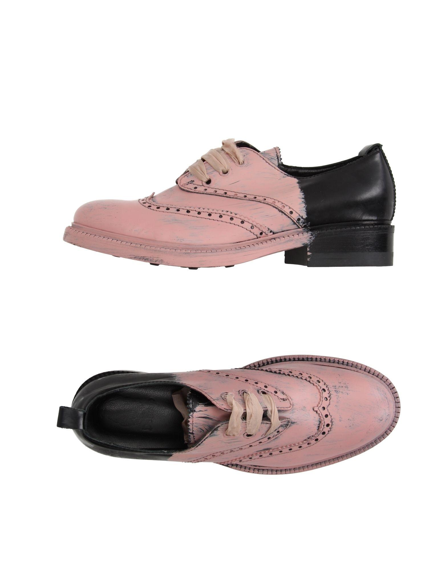 dondup lace up shoe in pink lyst