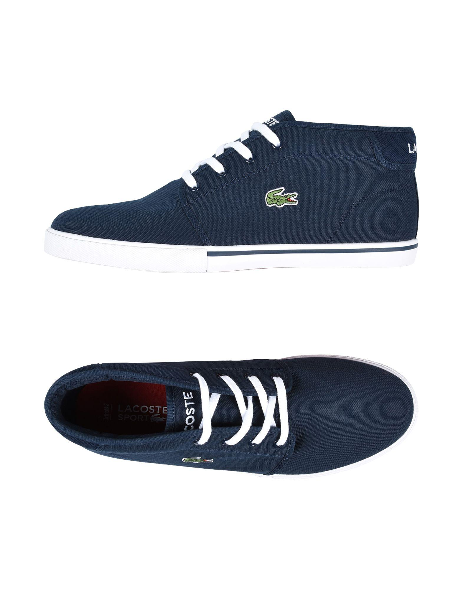 lacoste sport hightops amp sneakers in blue for men lyst