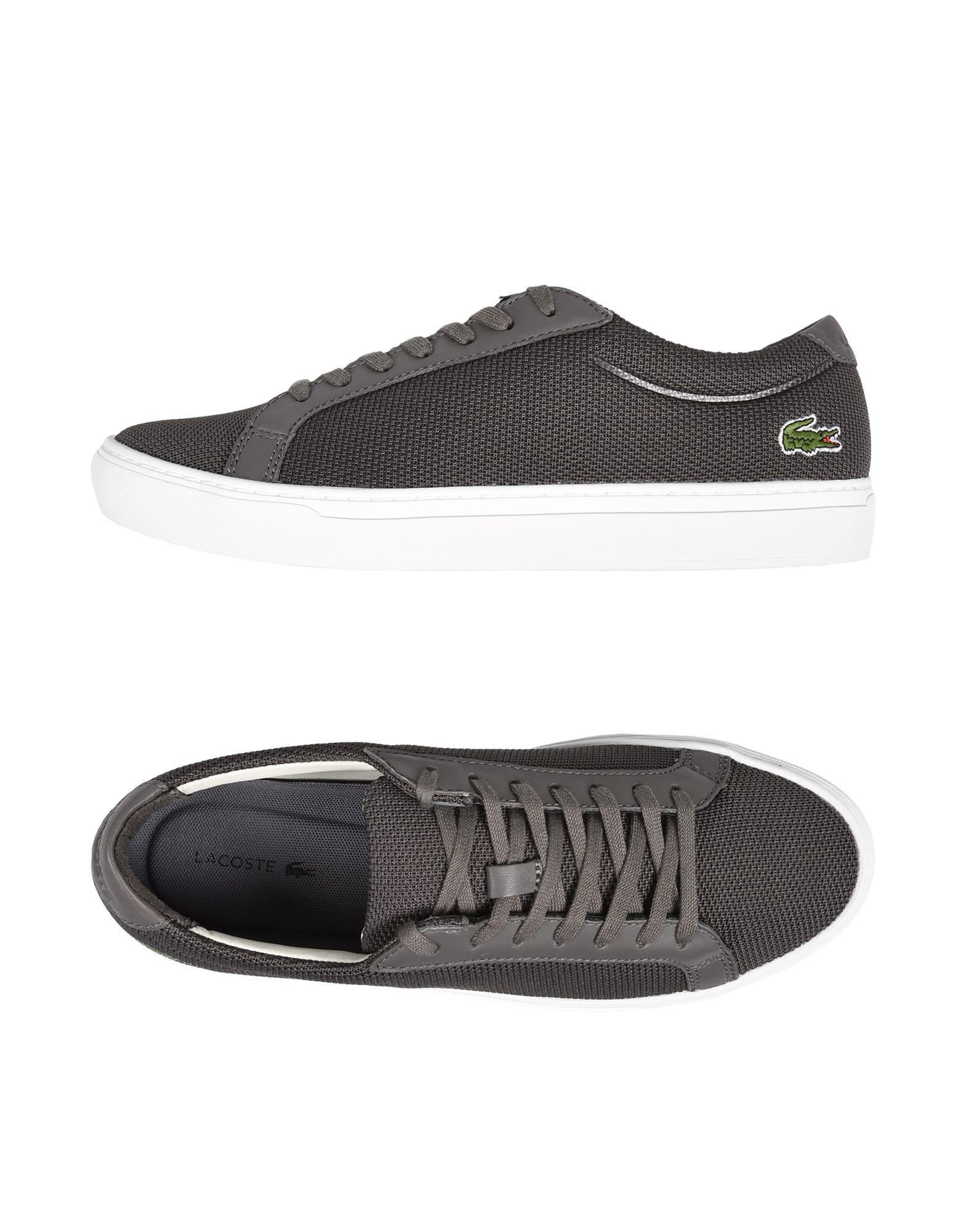 lacoste lowtops amp sneakers in gray for men lyst