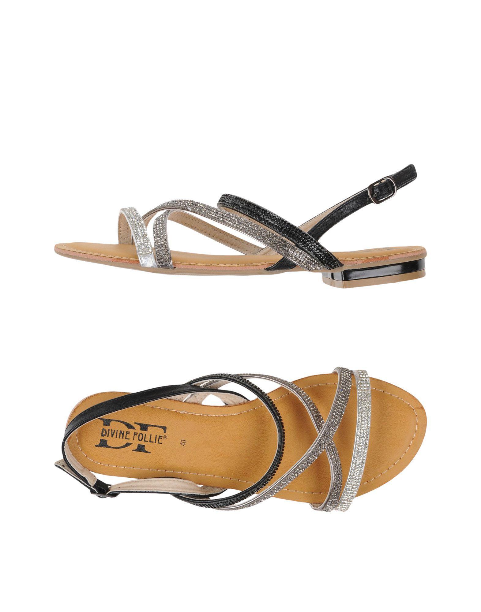 865621b4f89251 Lyst - Divine Follie Sandals in Metallic