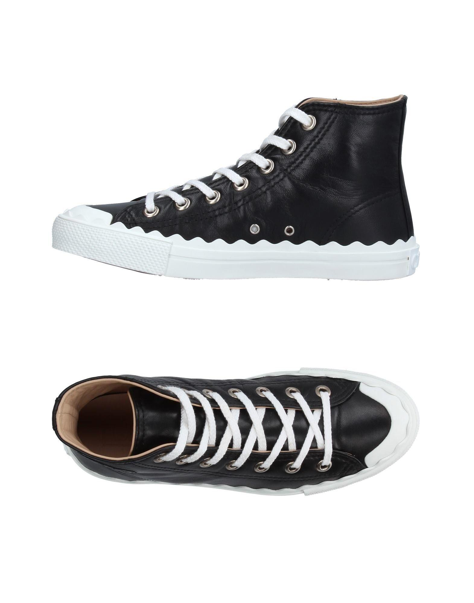 chlo high tops sneakers in black lyst. Black Bedroom Furniture Sets. Home Design Ideas