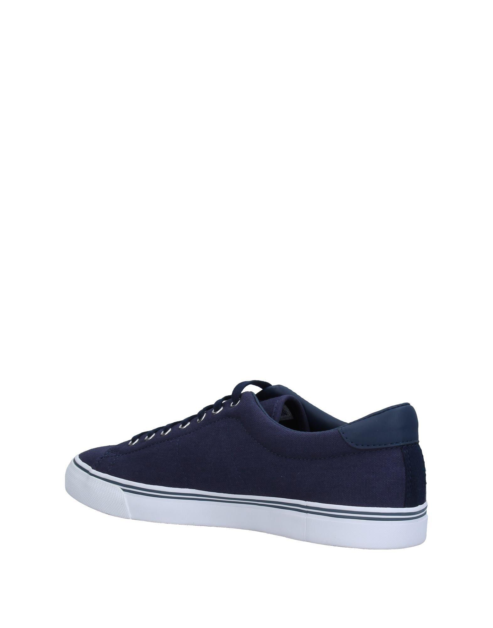 Fred Perry Blue Canvas Shoes