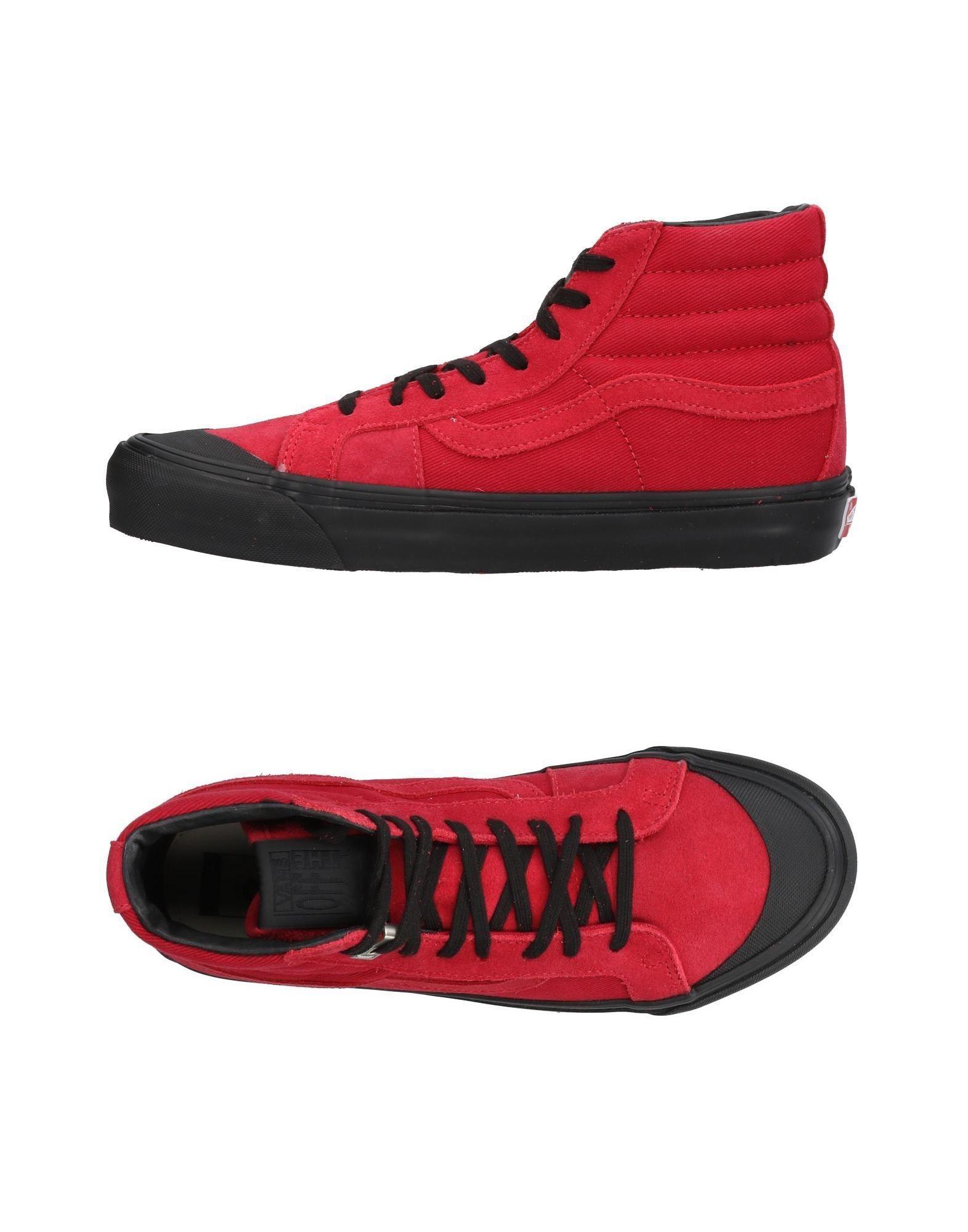 high top vans red