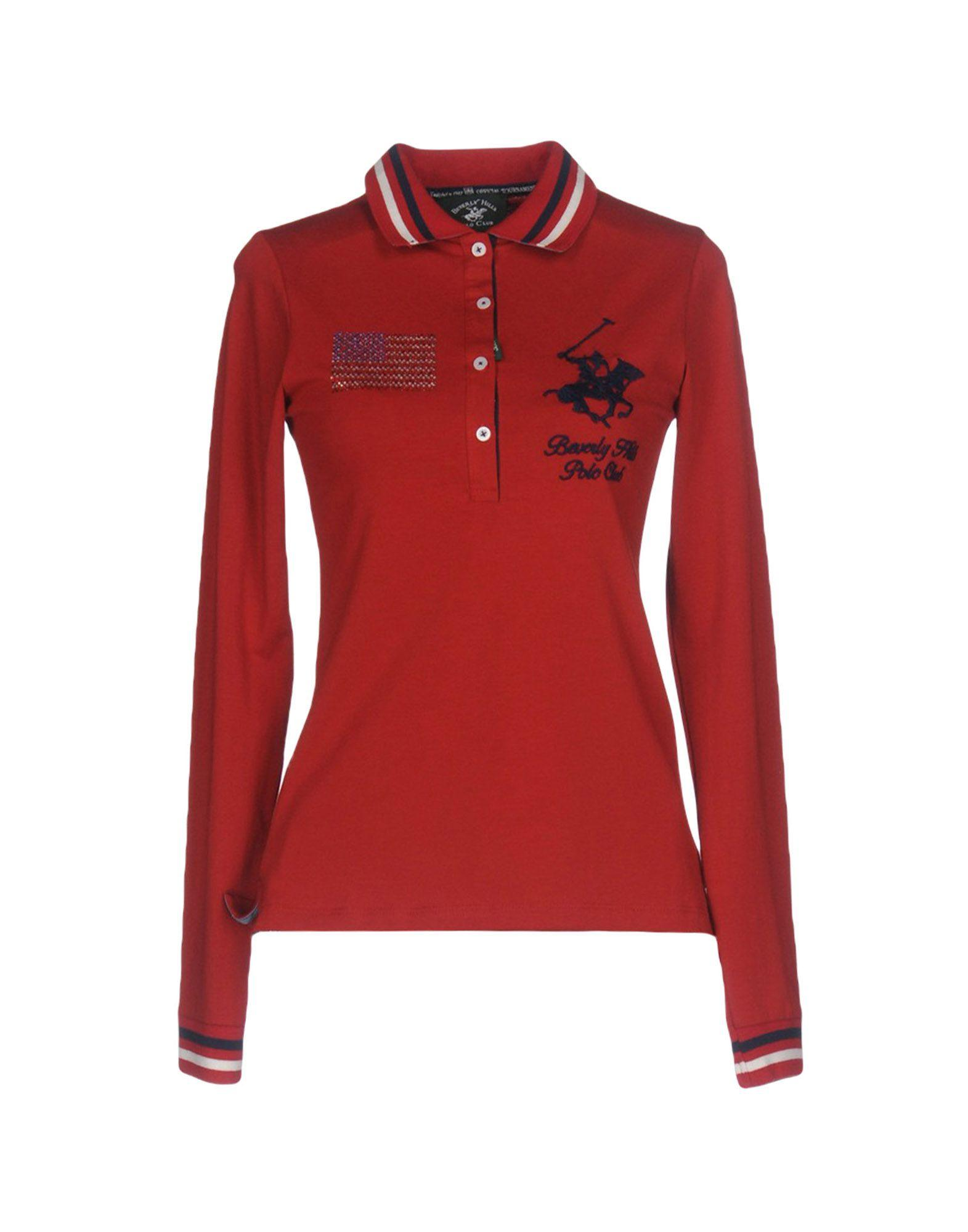 Beverly Hills Polo Club Polo Shirt In Red Lyst