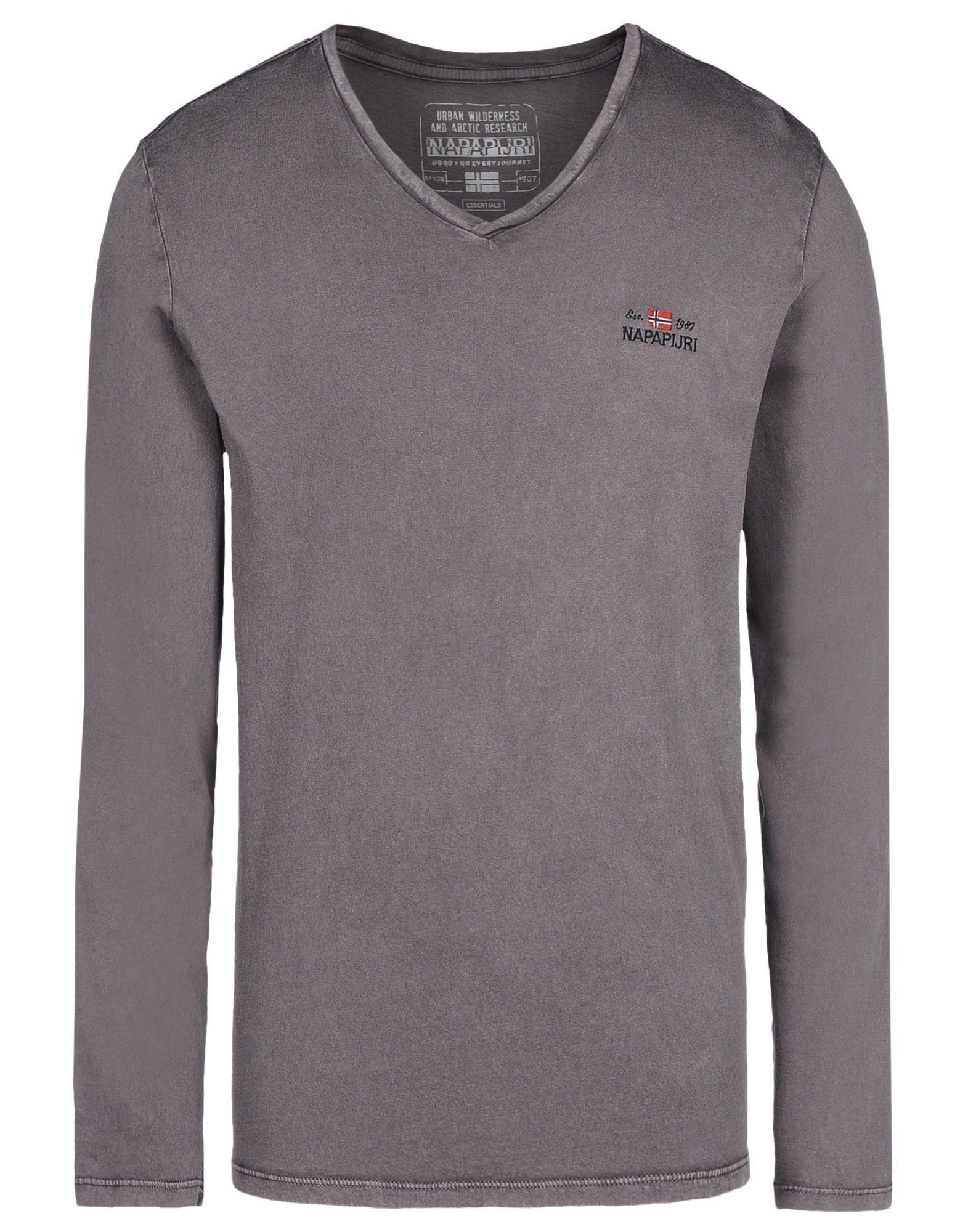 napapijri t shirt in grey for men lyst. Black Bedroom Furniture Sets. Home Design Ideas