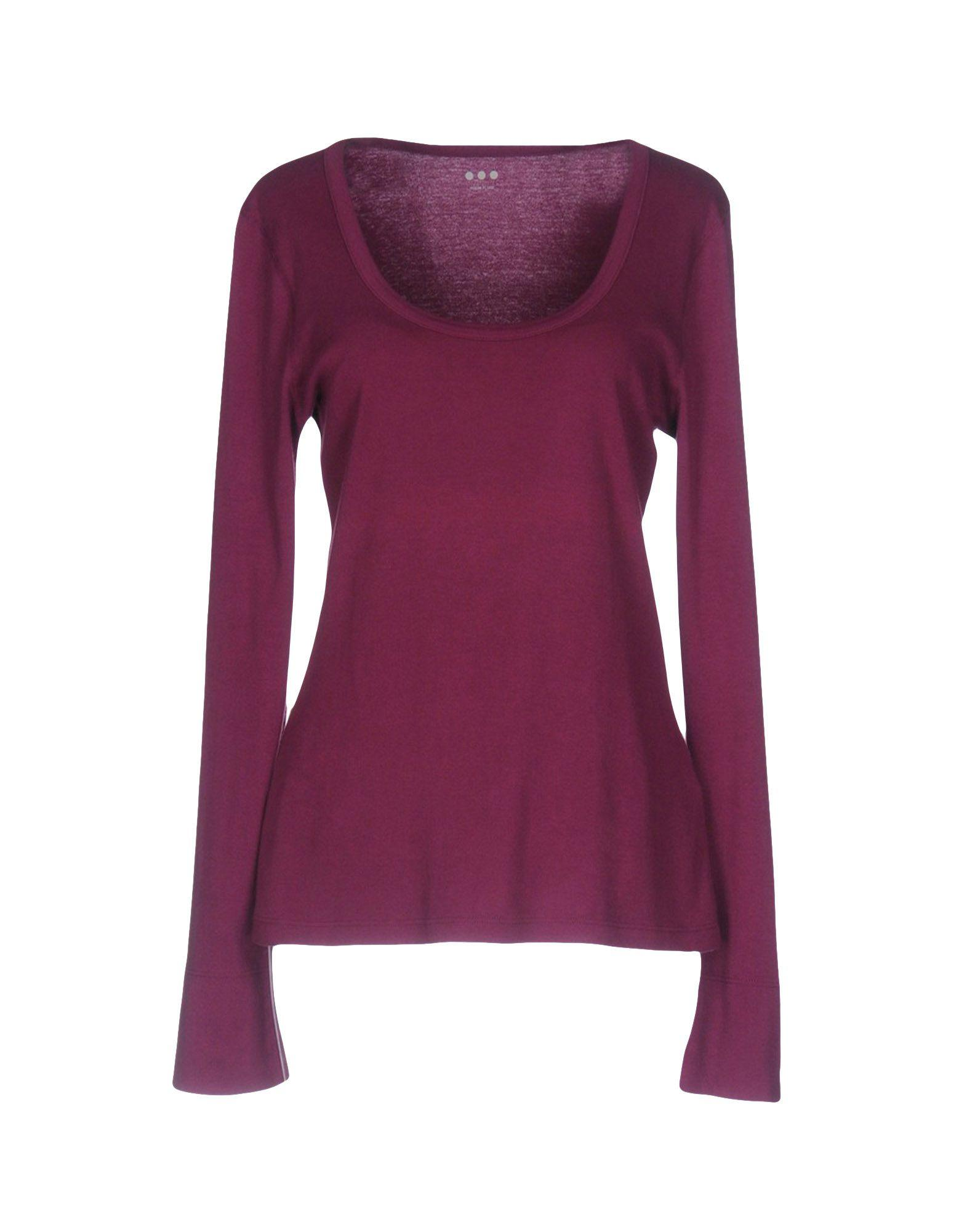Three Dots T Shirt In Purple Lyst