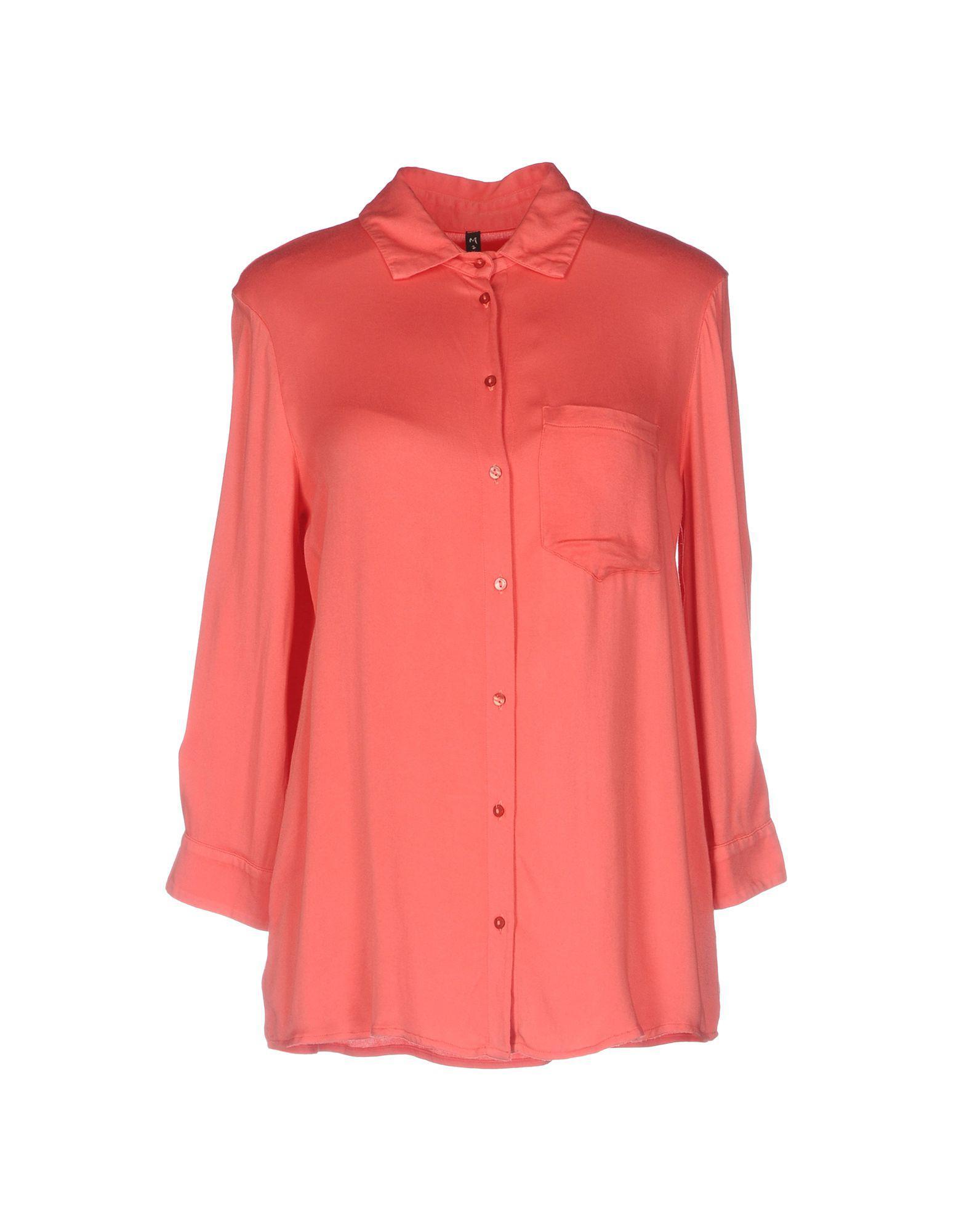cc03456a53a07 Lyst - Manila Grace Shirt in Pink