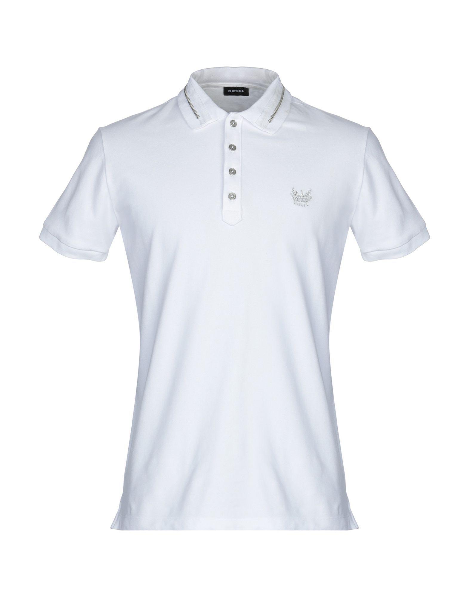 492f9580 DIESEL - White Polo Shirt for Men - Lyst. View fullscreen