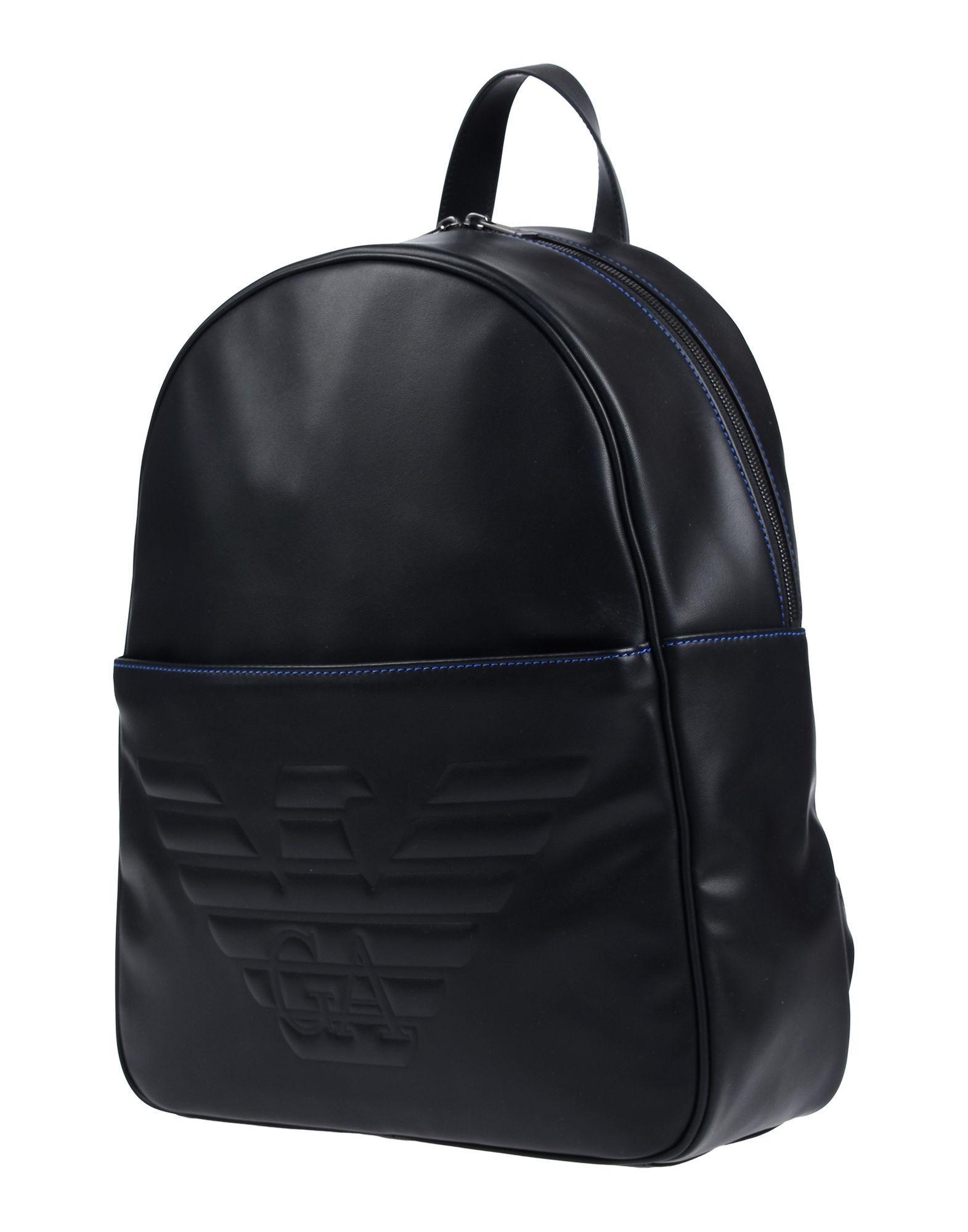 Emporio Armani Backpacks   Bum Bags in Black for Men - Lyst ed4efb6d67341