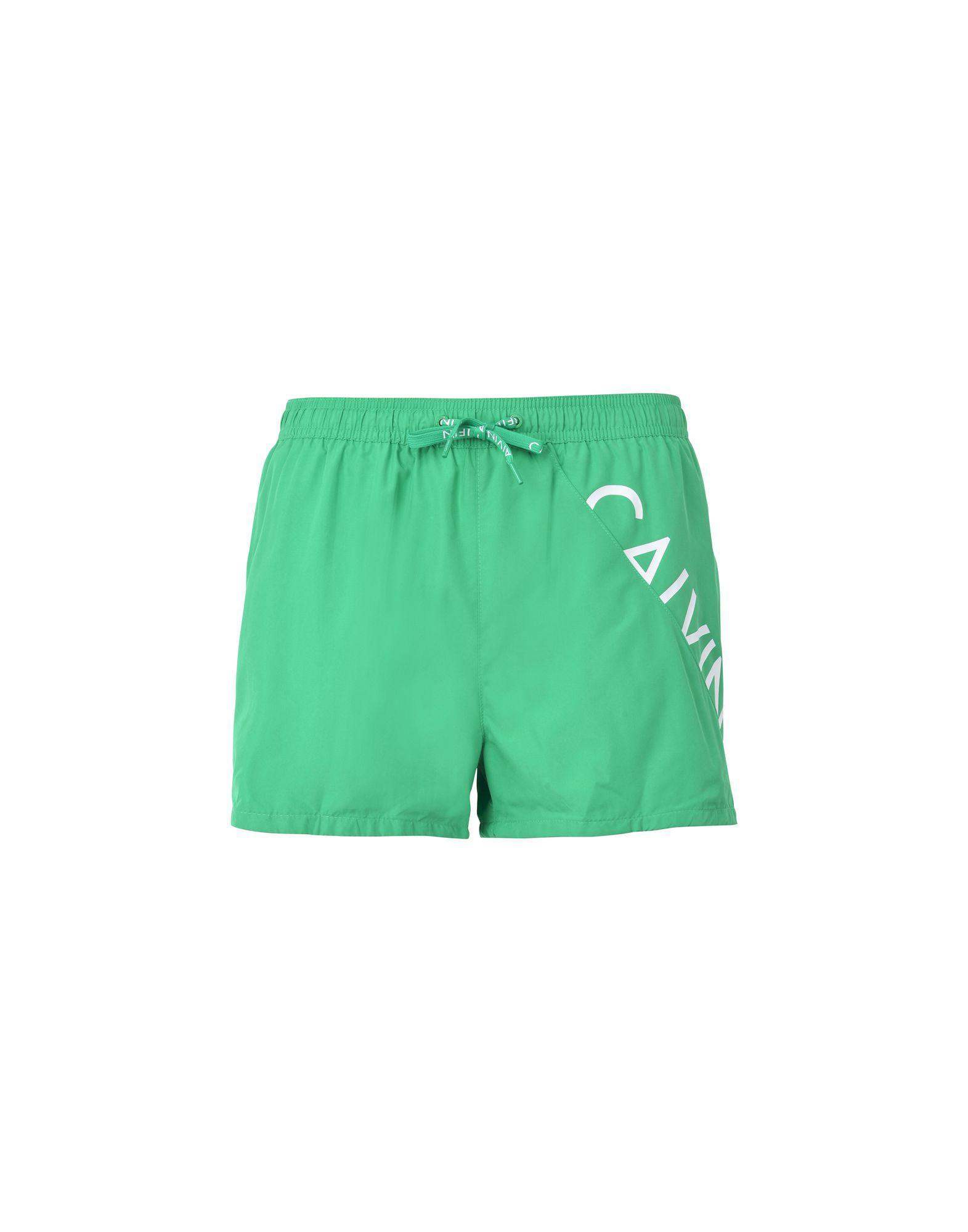 6048974948f91 Short de bain Calvin Klein pour homme en coloris Vert - Lyst