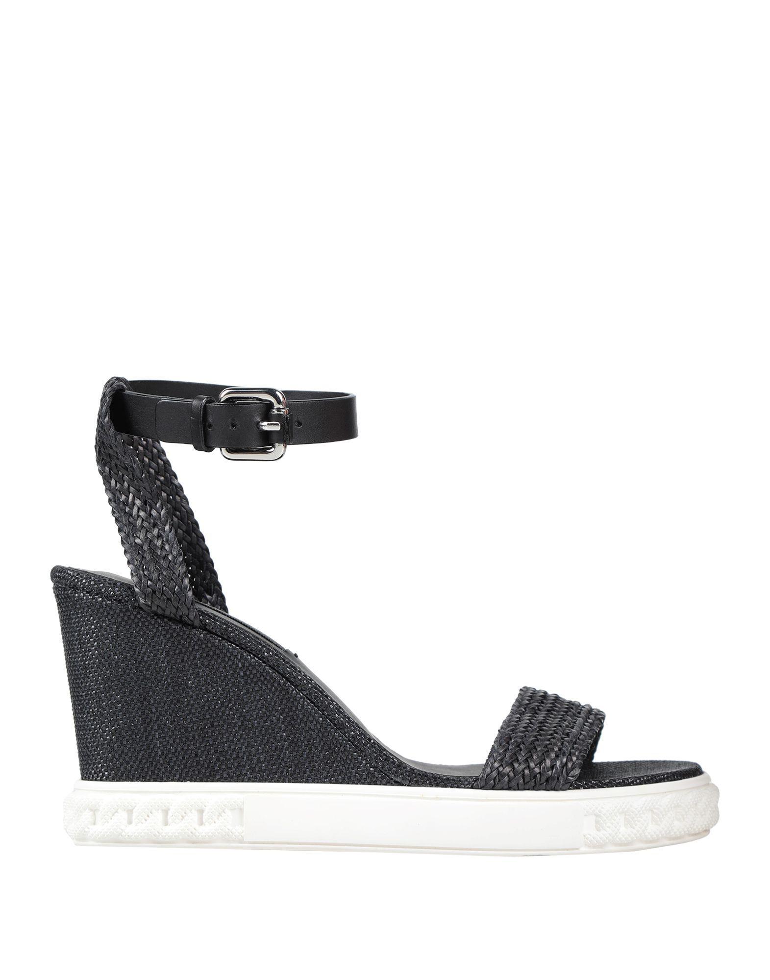 6acabe323cb Lyst - Casadei Sandals in Black