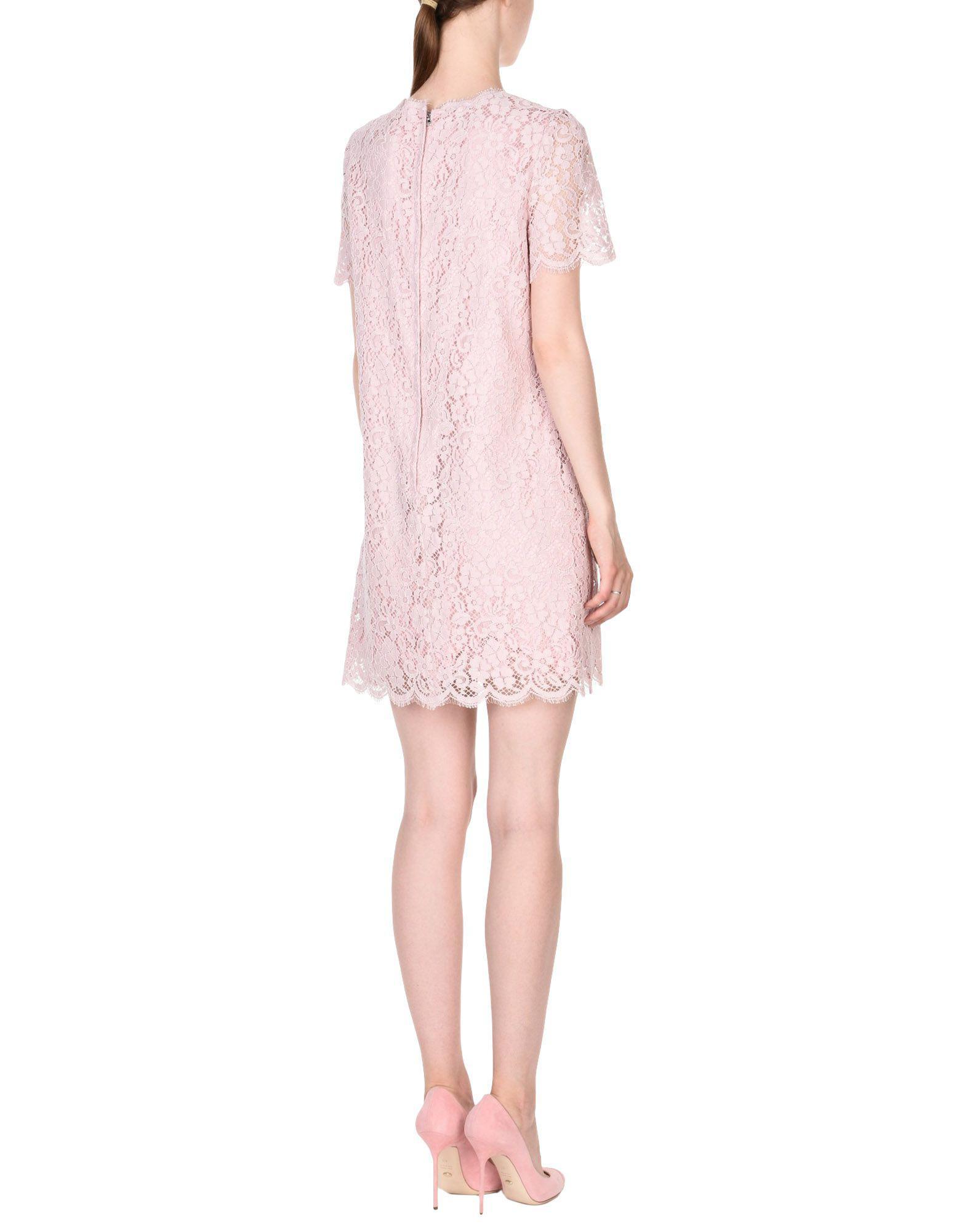 2889516ae62 Lyst - Dolce   Gabbana Kurzes Kleid in Pink