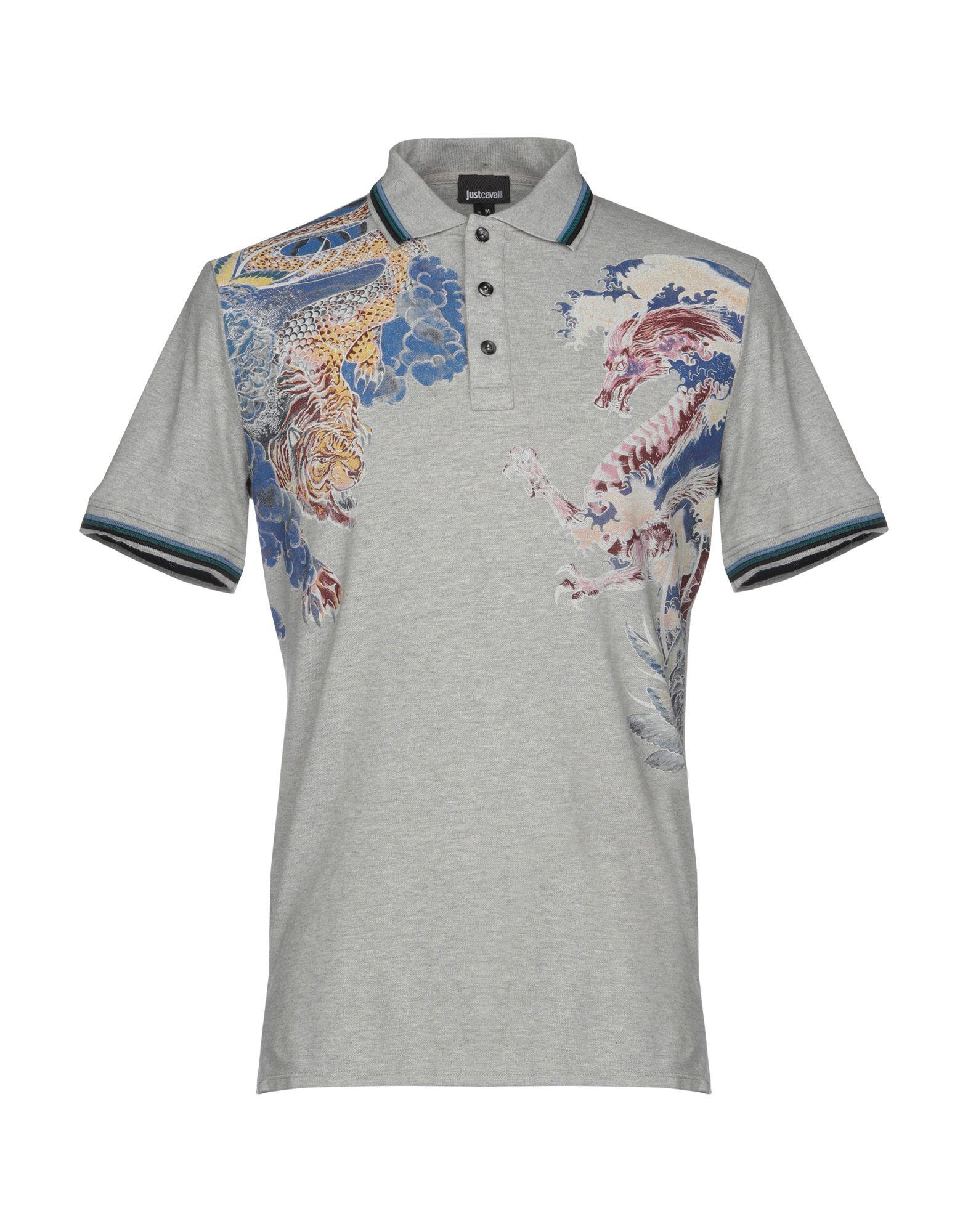 727f0951 Just Cavalli Polo Shirt in Gray for Men - Lyst
