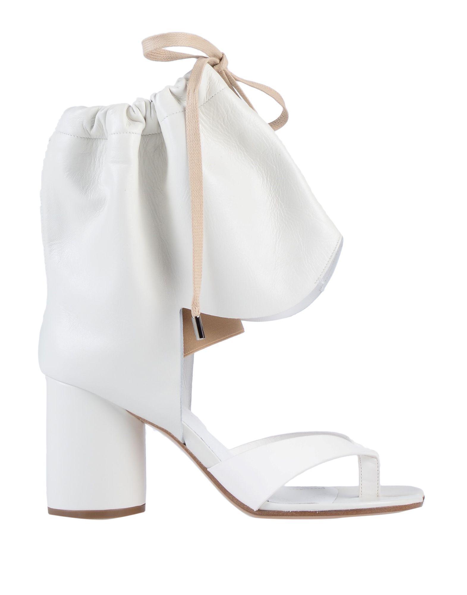 Nok8p0w Margiela Toe Sandal Post White Lyst Maison In VzpjqULGSM
