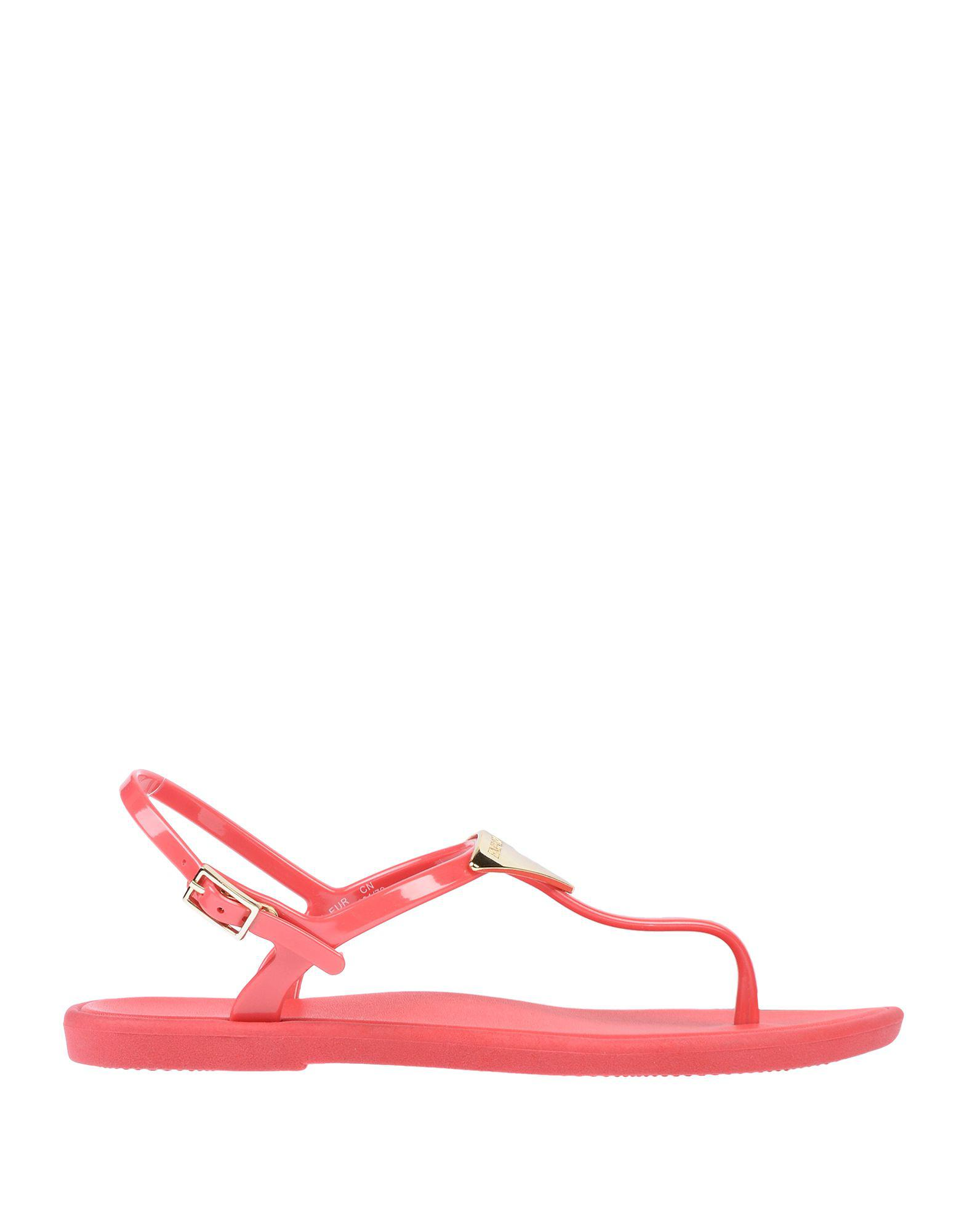 Armani In Post Red Emporio Sandal Toe Lyst Rwnqx5fXn
