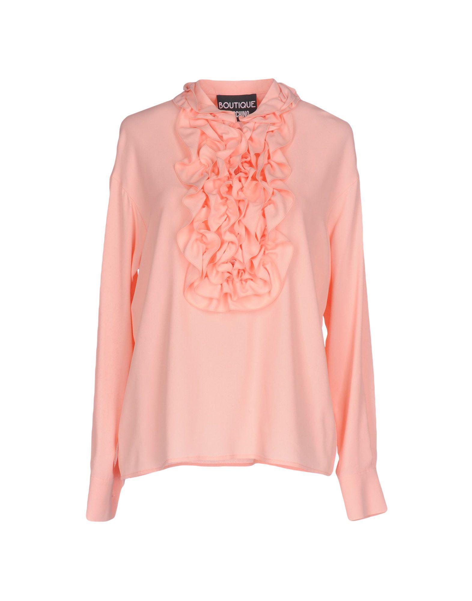 b4d4fcf22428c Boutique Moschino - Pink Blouse - Lyst. View fullscreen