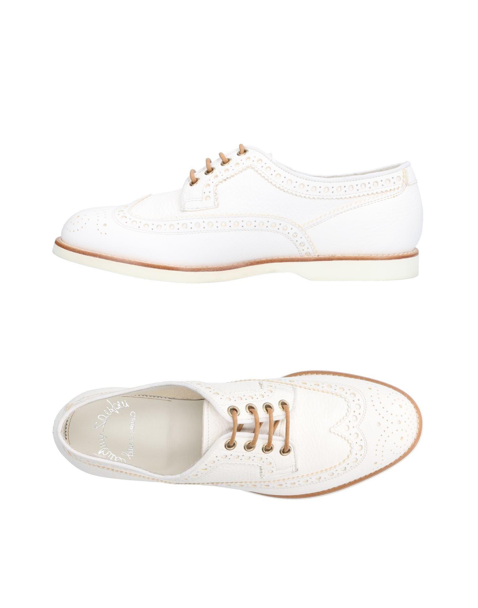 949683bc582582 Santoni Lace-up Shoe in White for Men - Lyst
