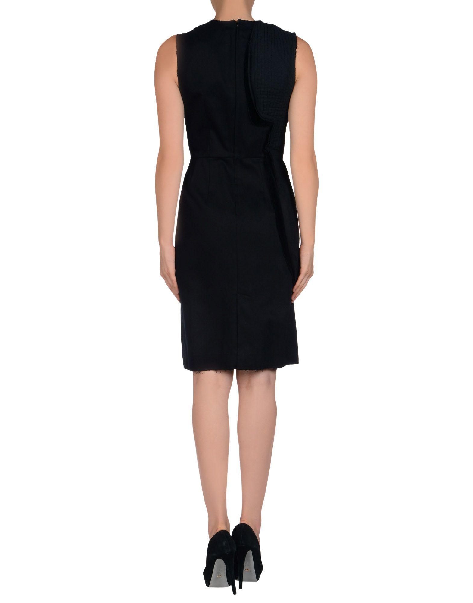 lyst comme des gar ons knee length dress in black. Black Bedroom Furniture Sets. Home Design Ideas