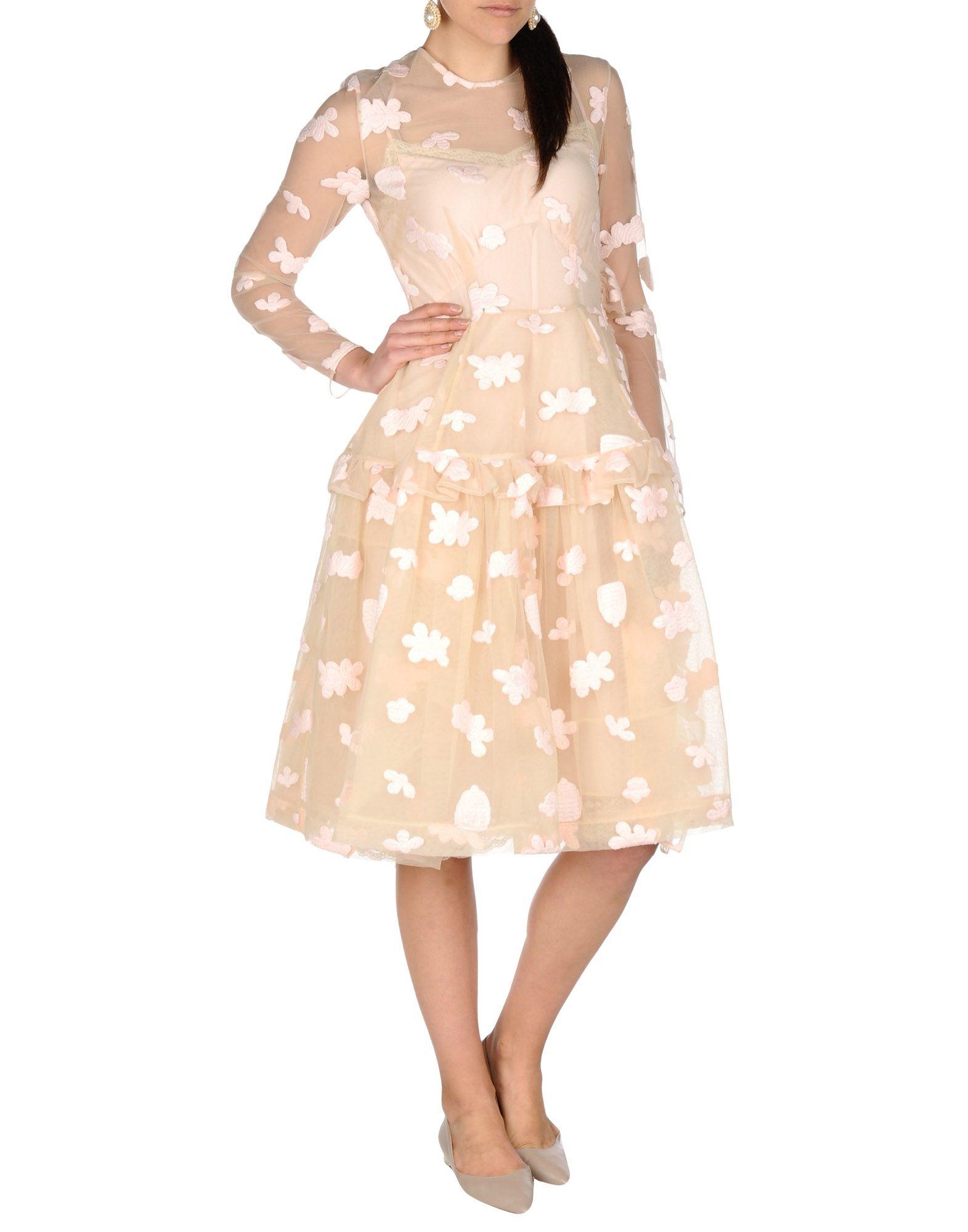 Simone Rocha Knee Length Dress In Natural Lyst
