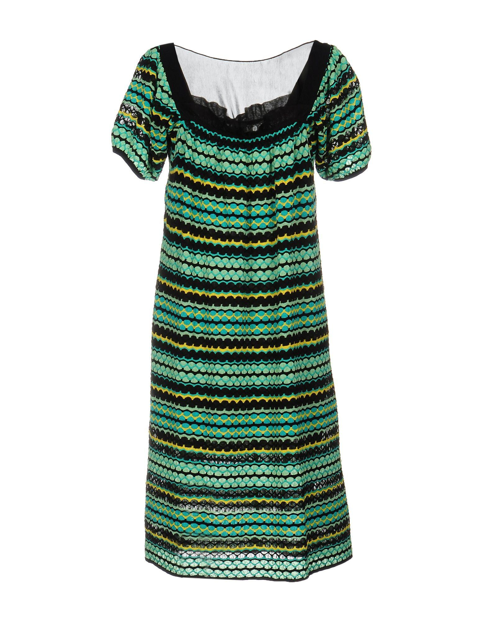 Lyst M Missoni Short Dress In Green