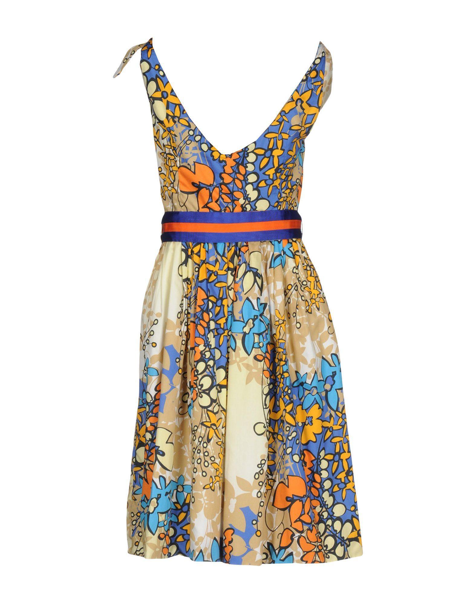 Lyst Mariagrazia Panizzi Knee Length Dress In Natural