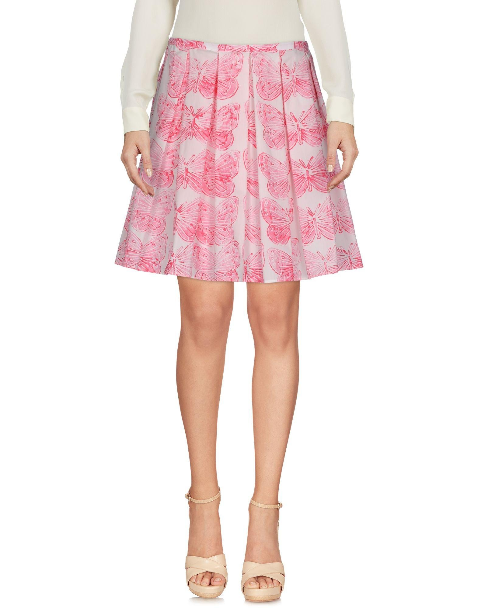 valentino knee length skirt in pink lyst