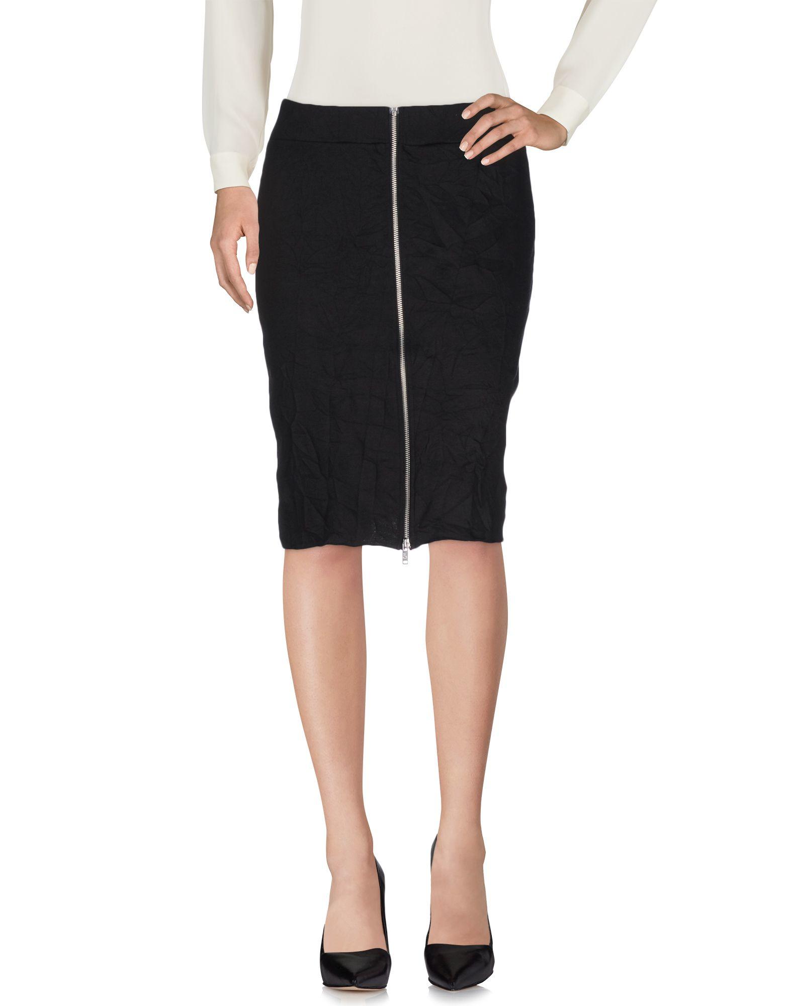 cheap monday knee length skirt in black lyst