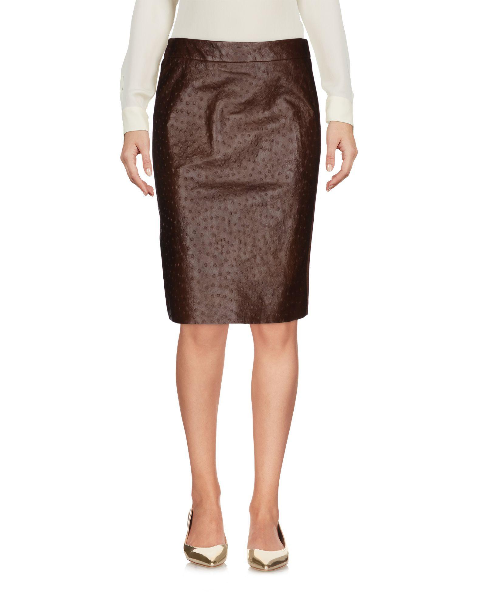max mara knee length skirt in brown lyst