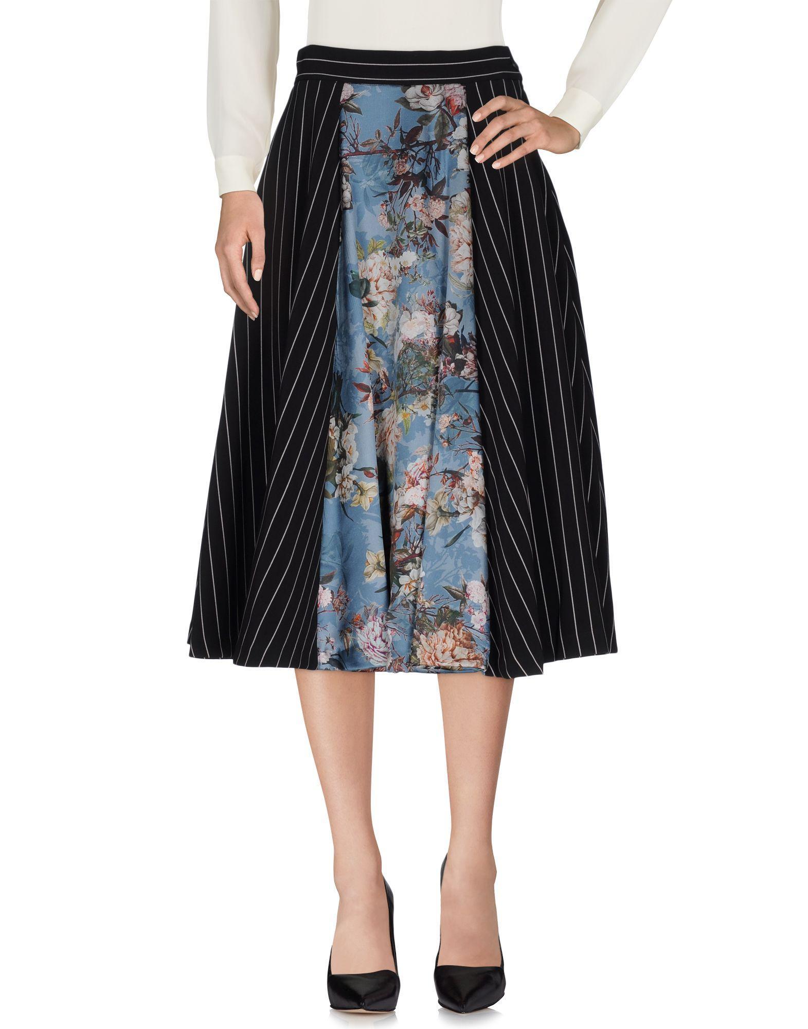 Mariagrazia Panizzi 3 4 Length Skirt In Black Save 21 Lyst