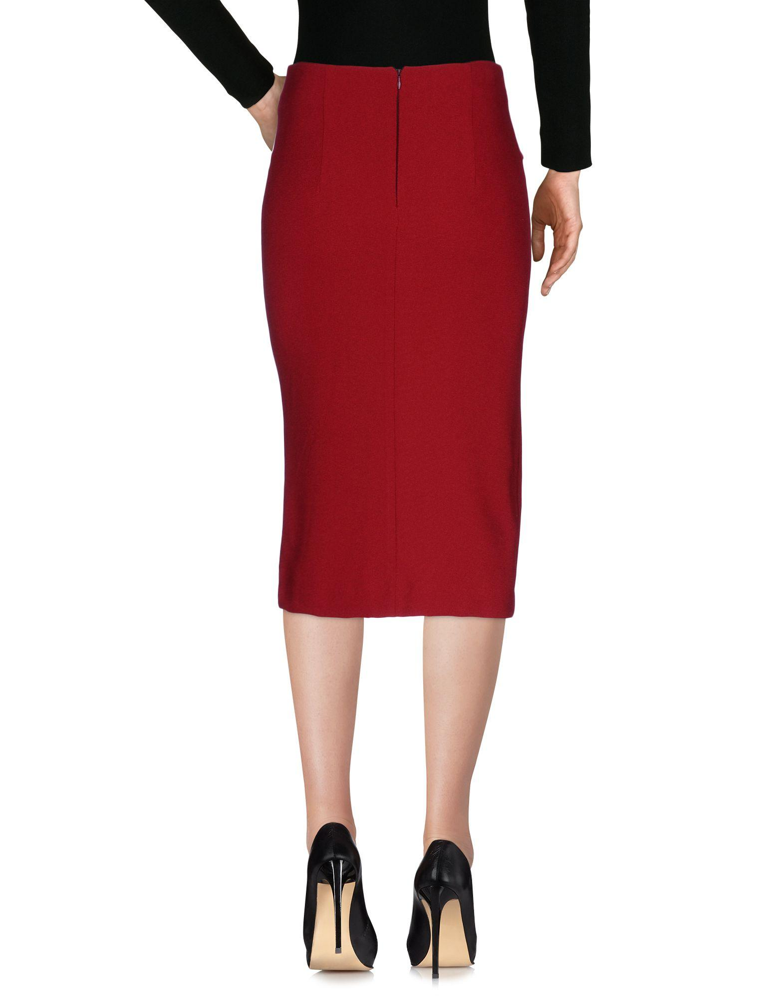 Vicolo 3 4 length skirt in red lyst for 20 34 35 dress shirts