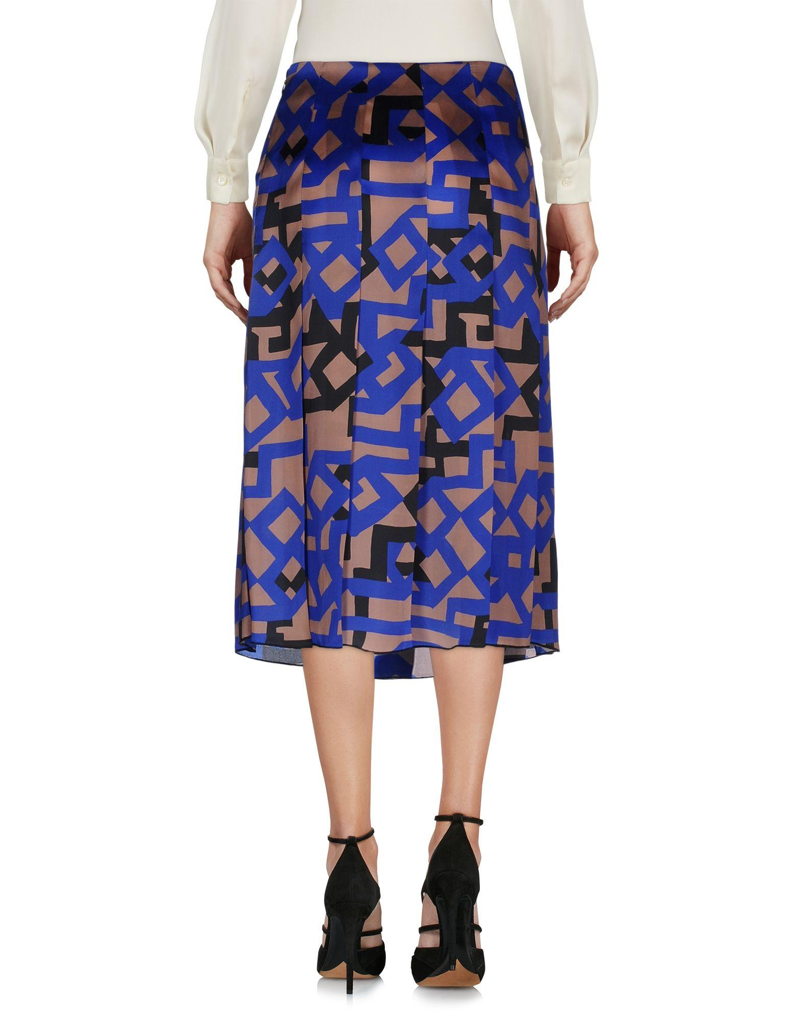 Etro 3 4 length skirt in blue lyst for 20 34 35 dress shirts