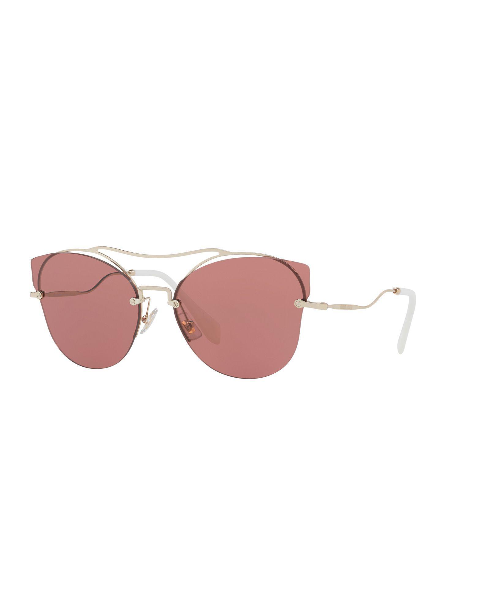 Miu Miu. Gafas de sol de mujer de color rosa de81718ca6