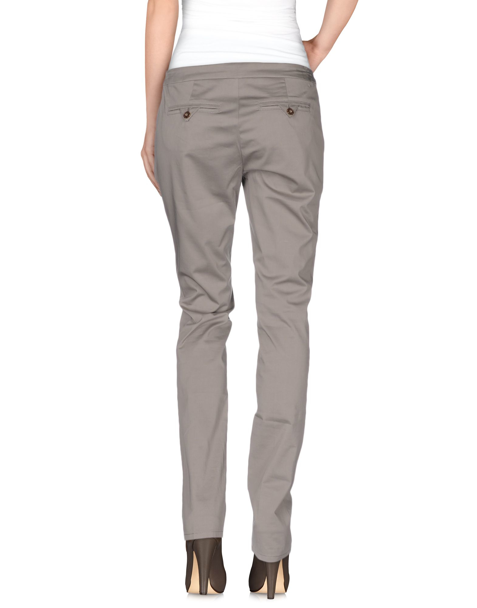 lyst marc cain casual trouser in gray. Black Bedroom Furniture Sets. Home Design Ideas