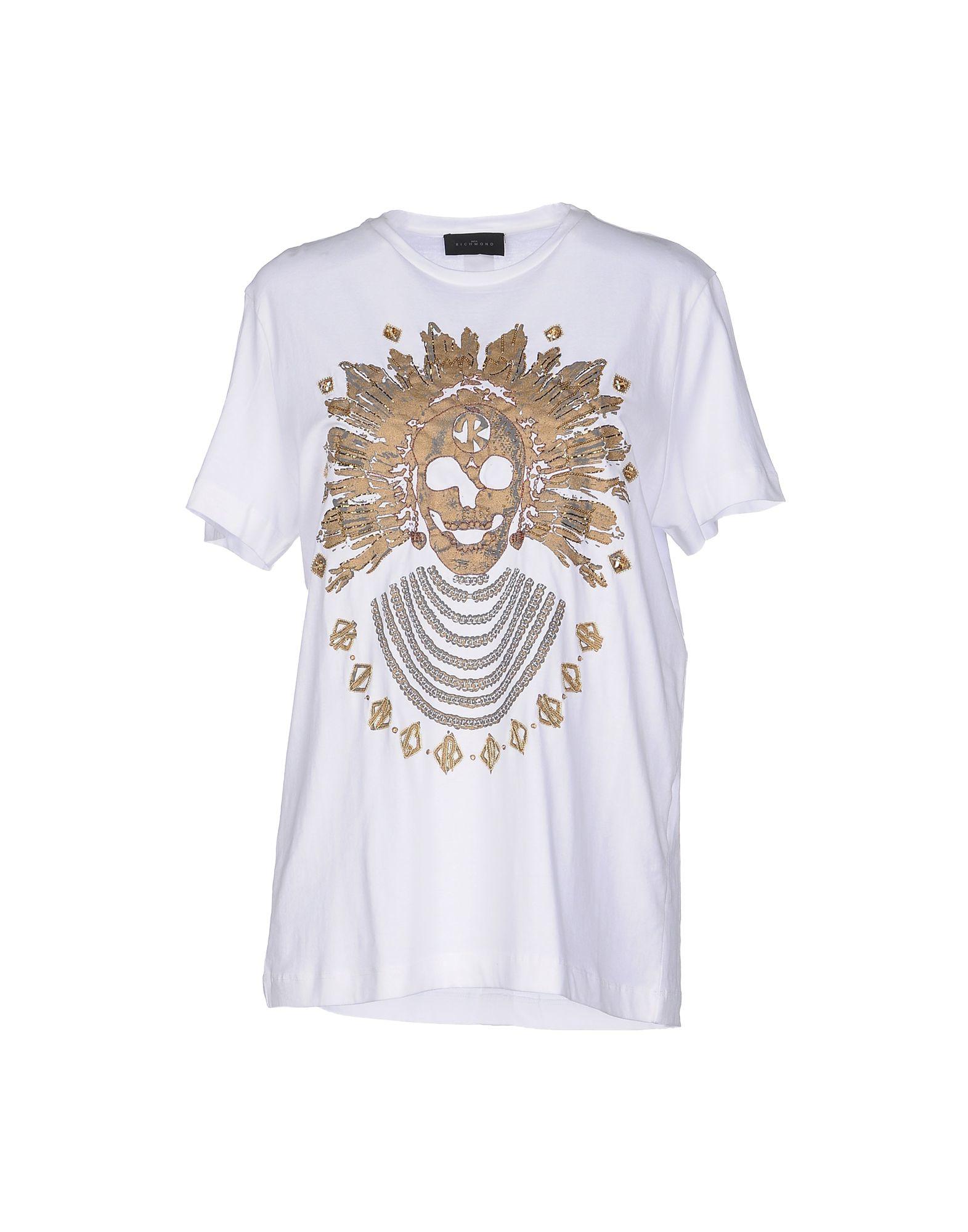 John richmond t shirt in multicolor white lyst for Richmond t shirt printing