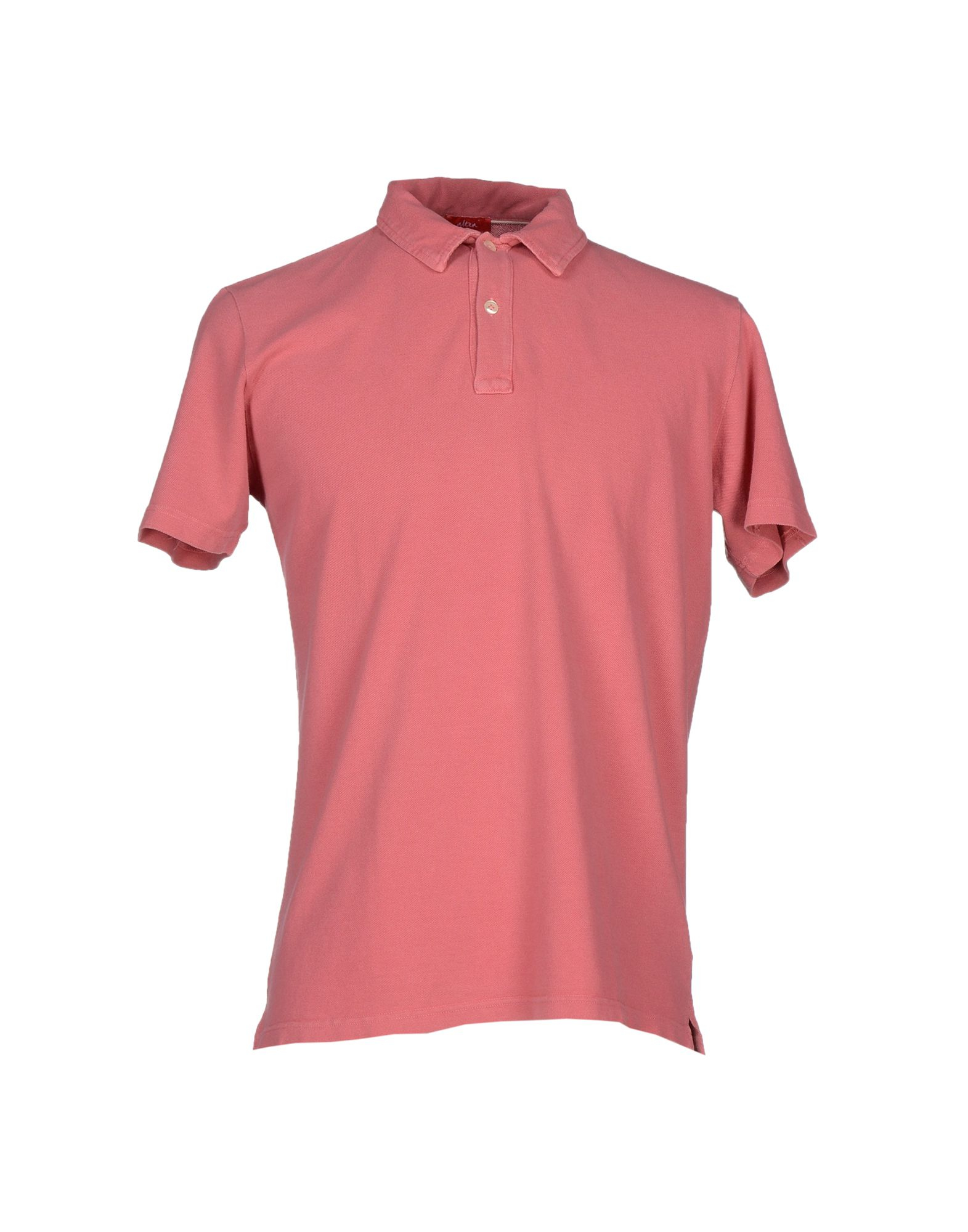 Altea polo shirt in pink for men pastel pink lyst for Pastel colored men s t shirts