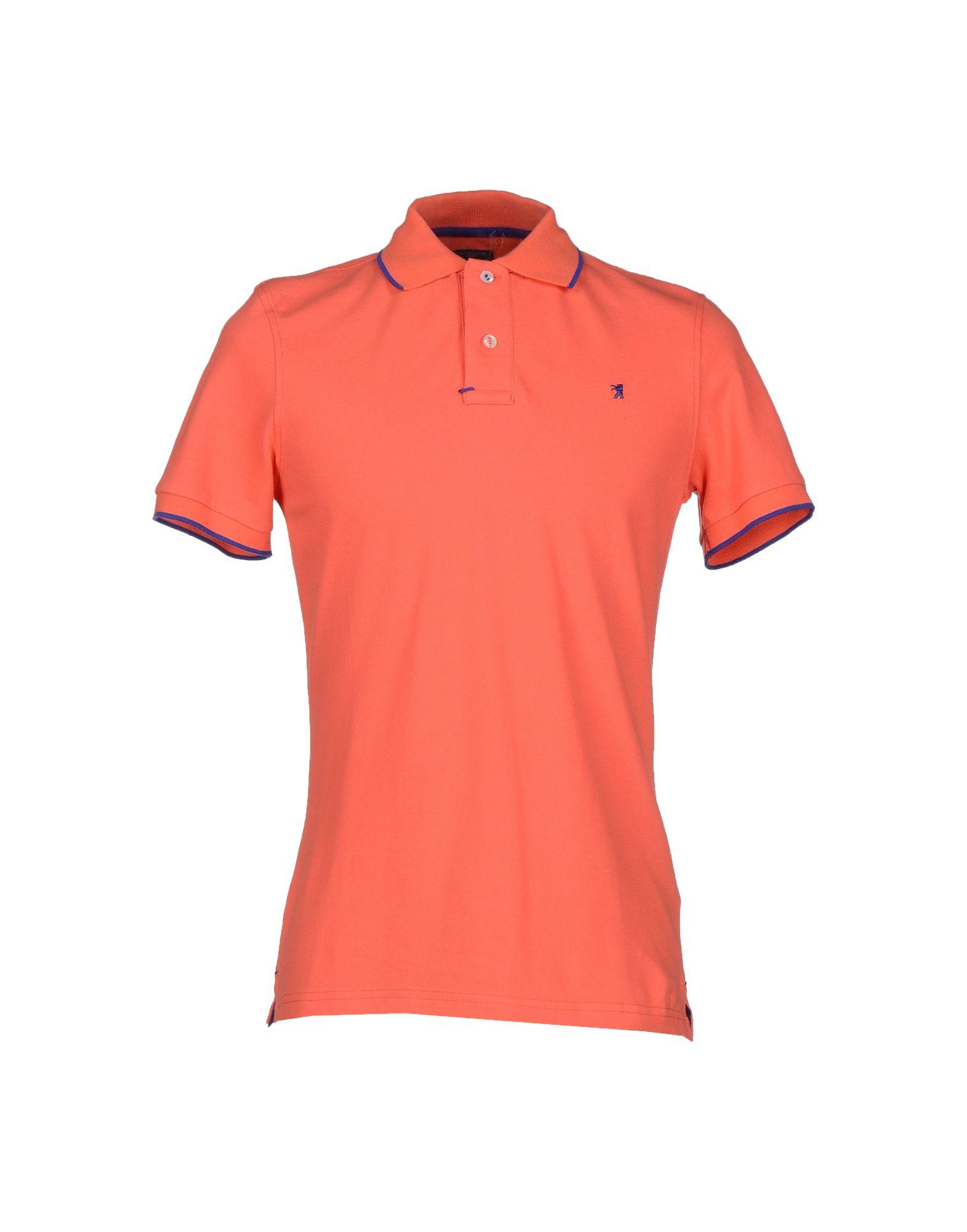 Lyst jaggy polo shirt in orange for men for Orange polo shirt mens