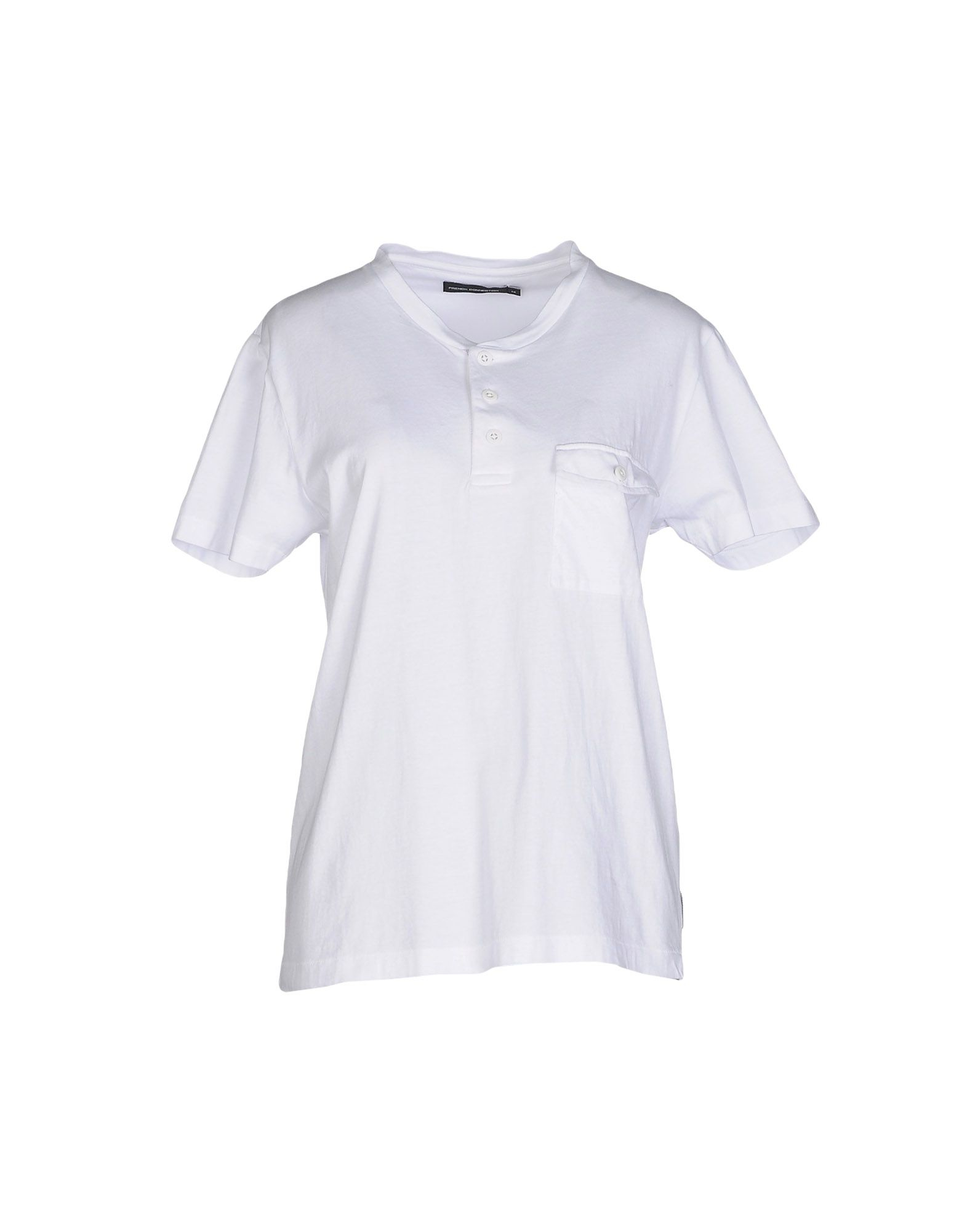 French Connection T Shirt In White Lyst