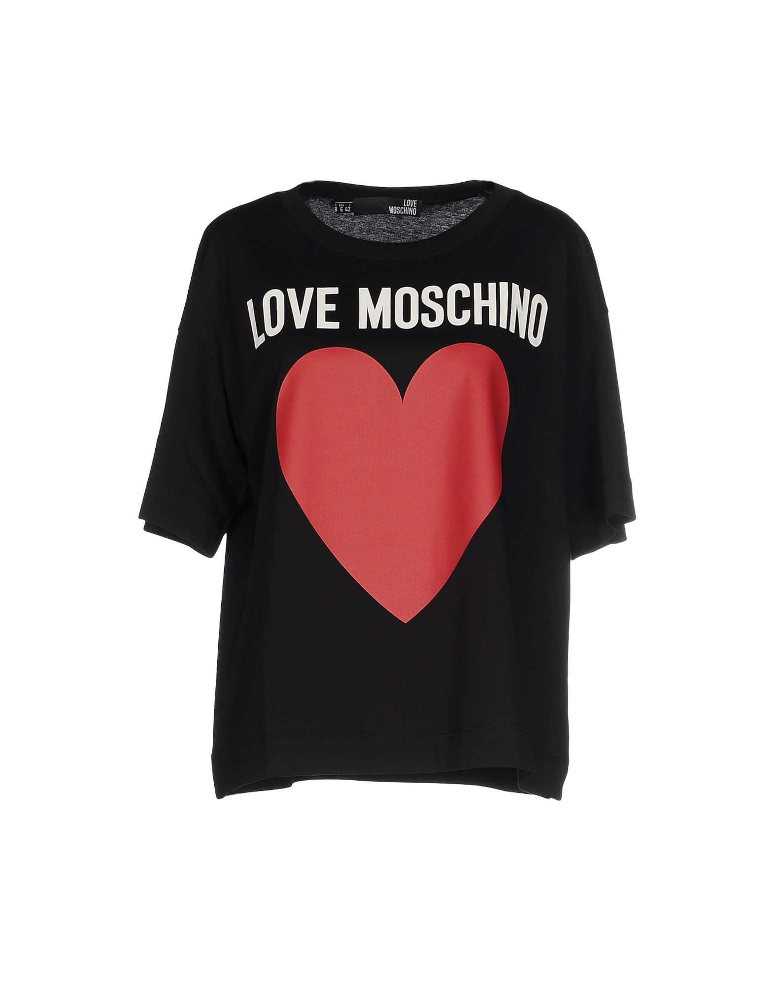 love moschino t shirt in black lyst. Black Bedroom Furniture Sets. Home Design Ideas
