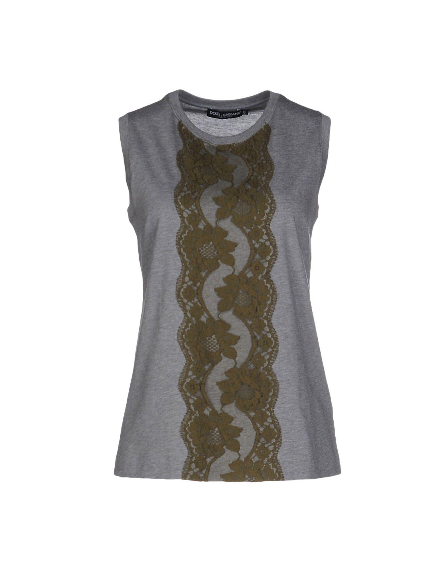dolce gabbana t shirt in gray grey lyst. Black Bedroom Furniture Sets. Home Design Ideas