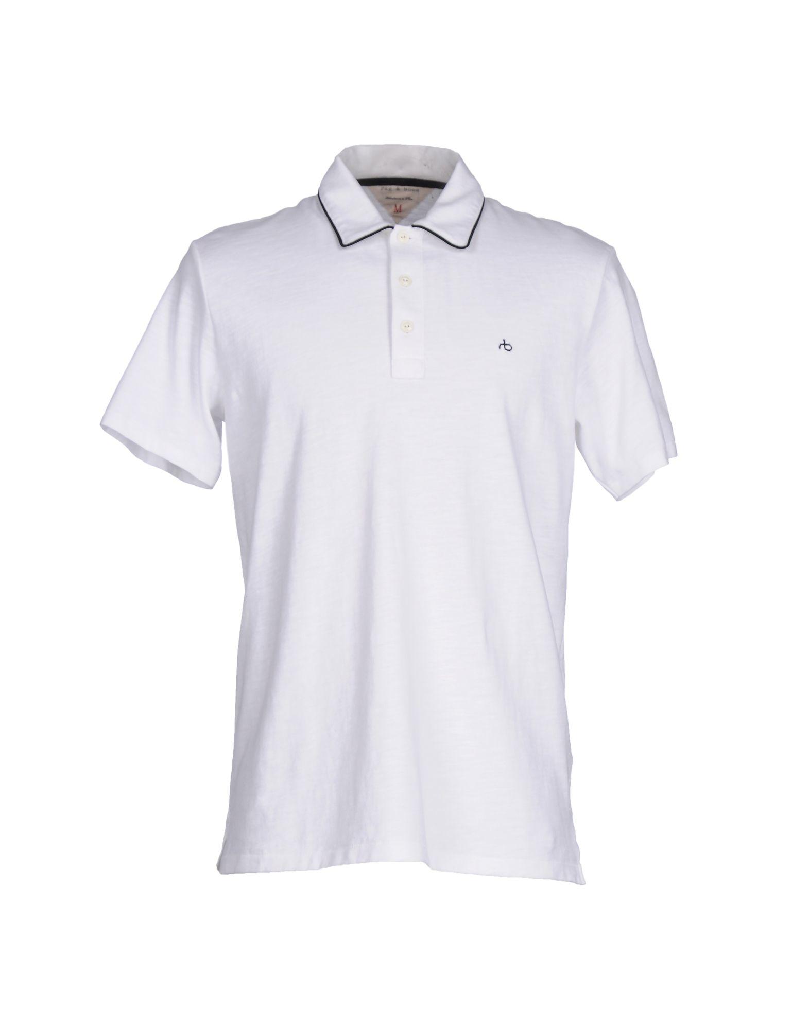 Rag bone polo shirt in white for men lyst for Rag and bone t shirts